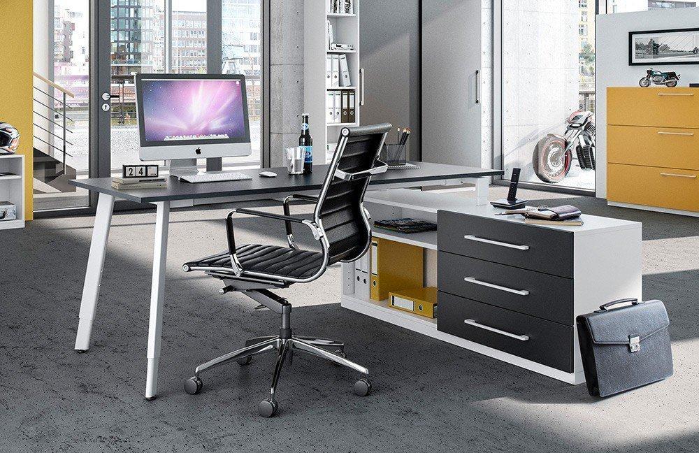 Röhr objekt.design Büromöbel weiß-anthrazit | Möbel Letz - Ihr ...