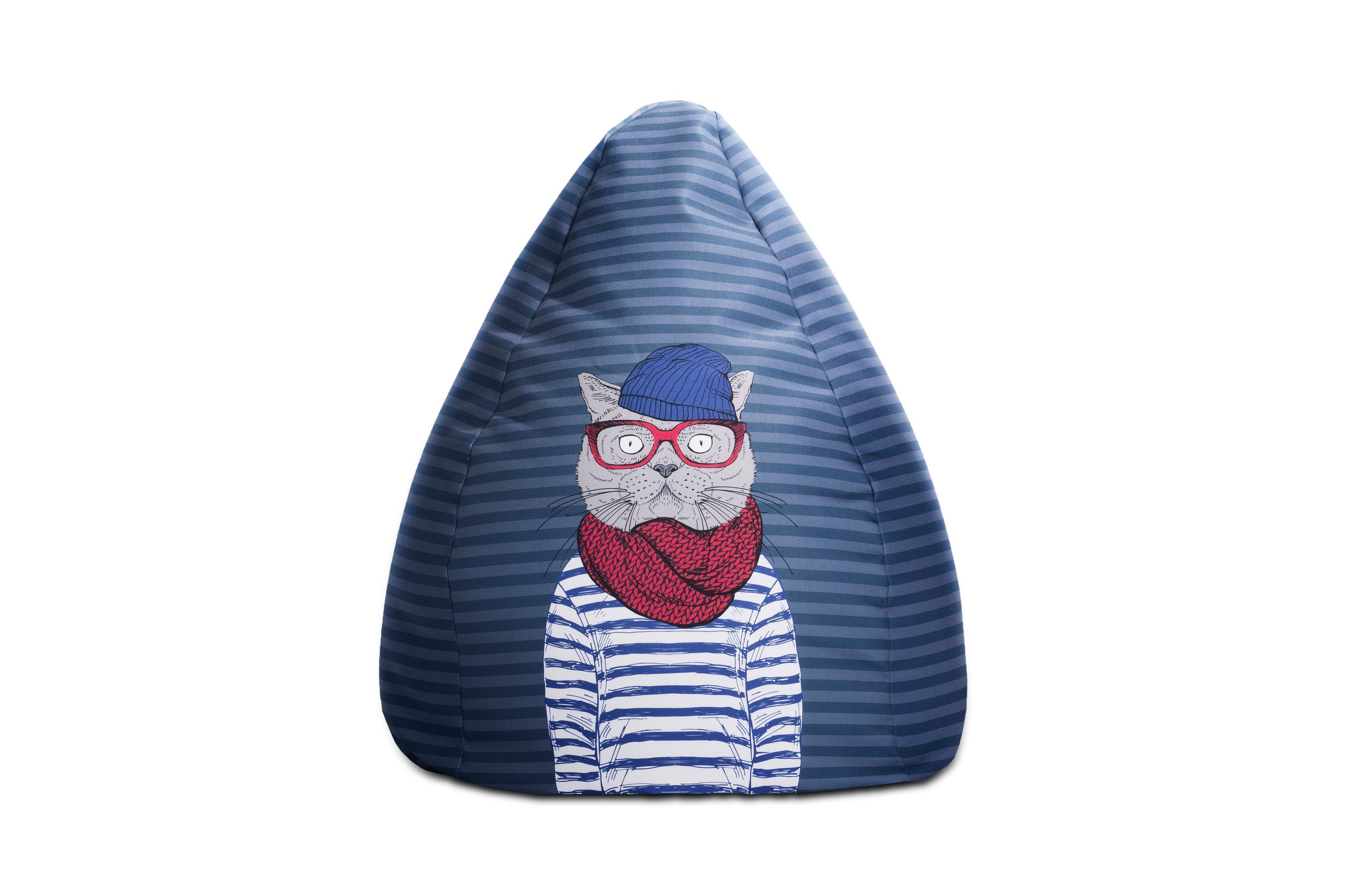 sitzsack beanbag sailor cat xl von magma heimtex n blau m bel letz ihr online shop. Black Bedroom Furniture Sets. Home Design Ideas