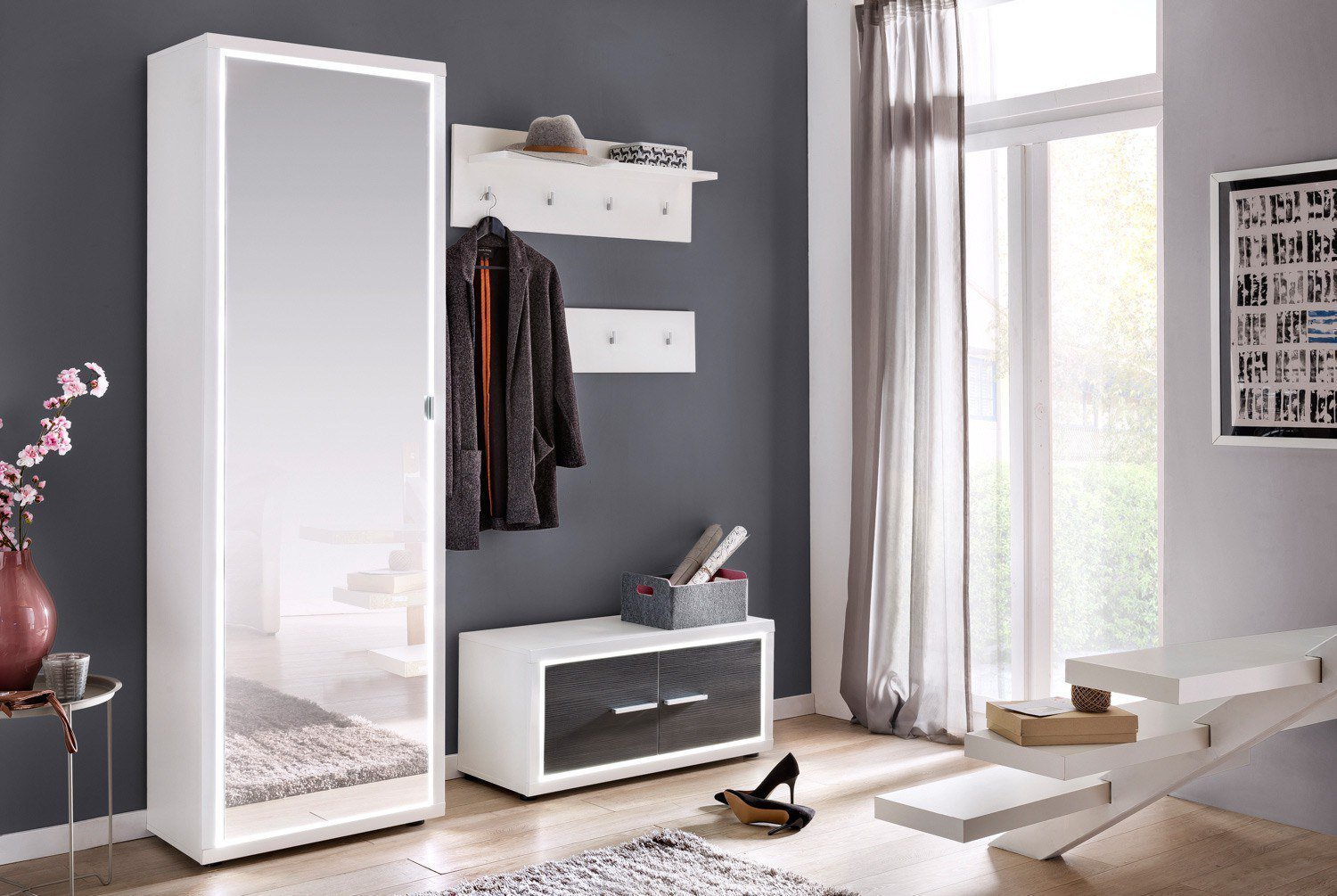 forestdream garderobe light inkl beleuchtung m bel letz ihr online shop. Black Bedroom Furniture Sets. Home Design Ideas