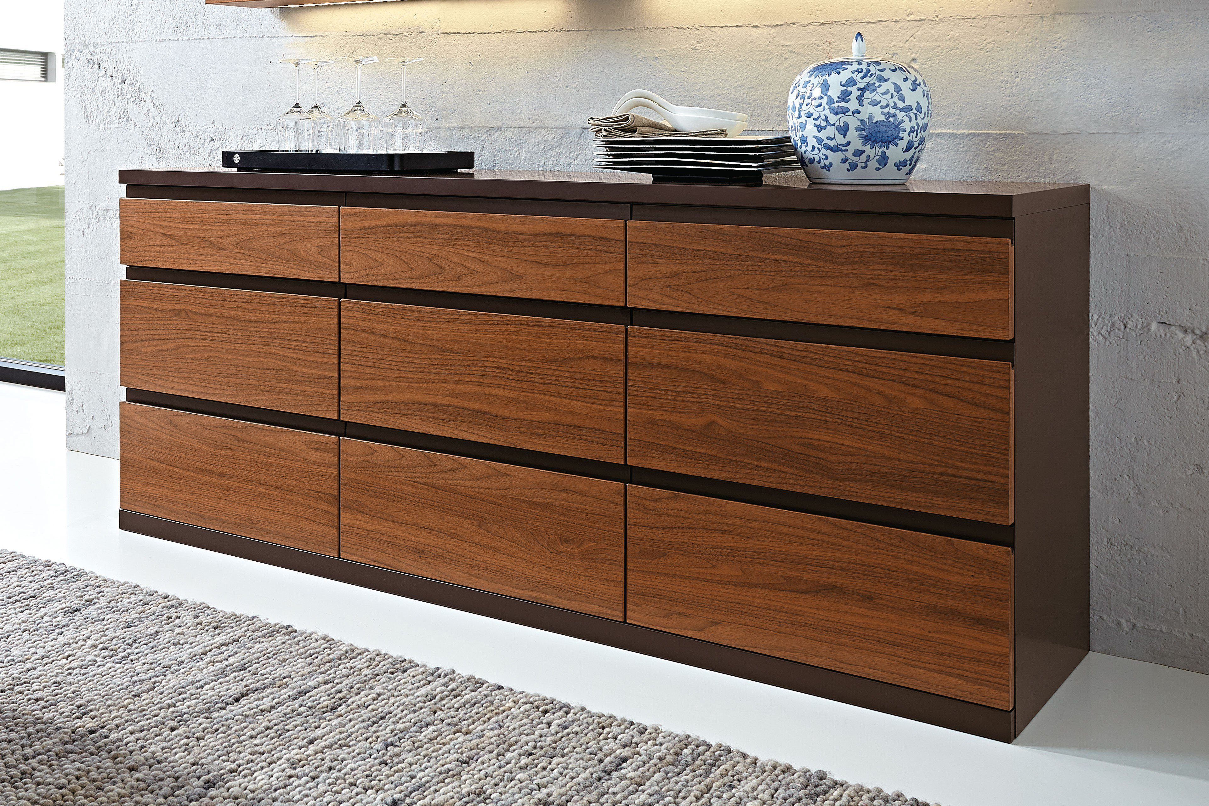 rietberger sideboard linaro nussbaum braun m bel letz ihr online shop. Black Bedroom Furniture Sets. Home Design Ideas