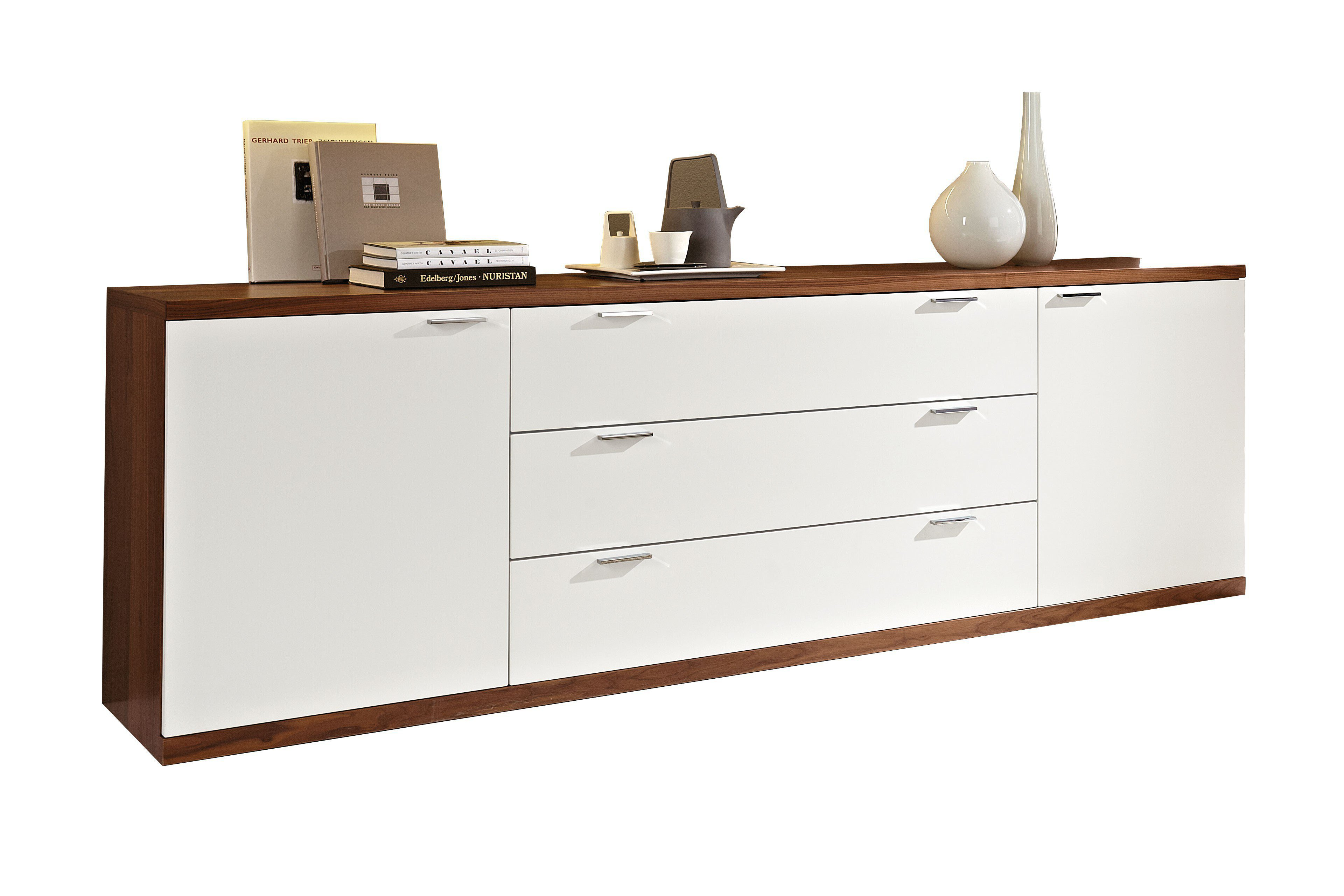 rietberger sideboard siena wei nussbaum m bel letz ihr online shop. Black Bedroom Furniture Sets. Home Design Ideas