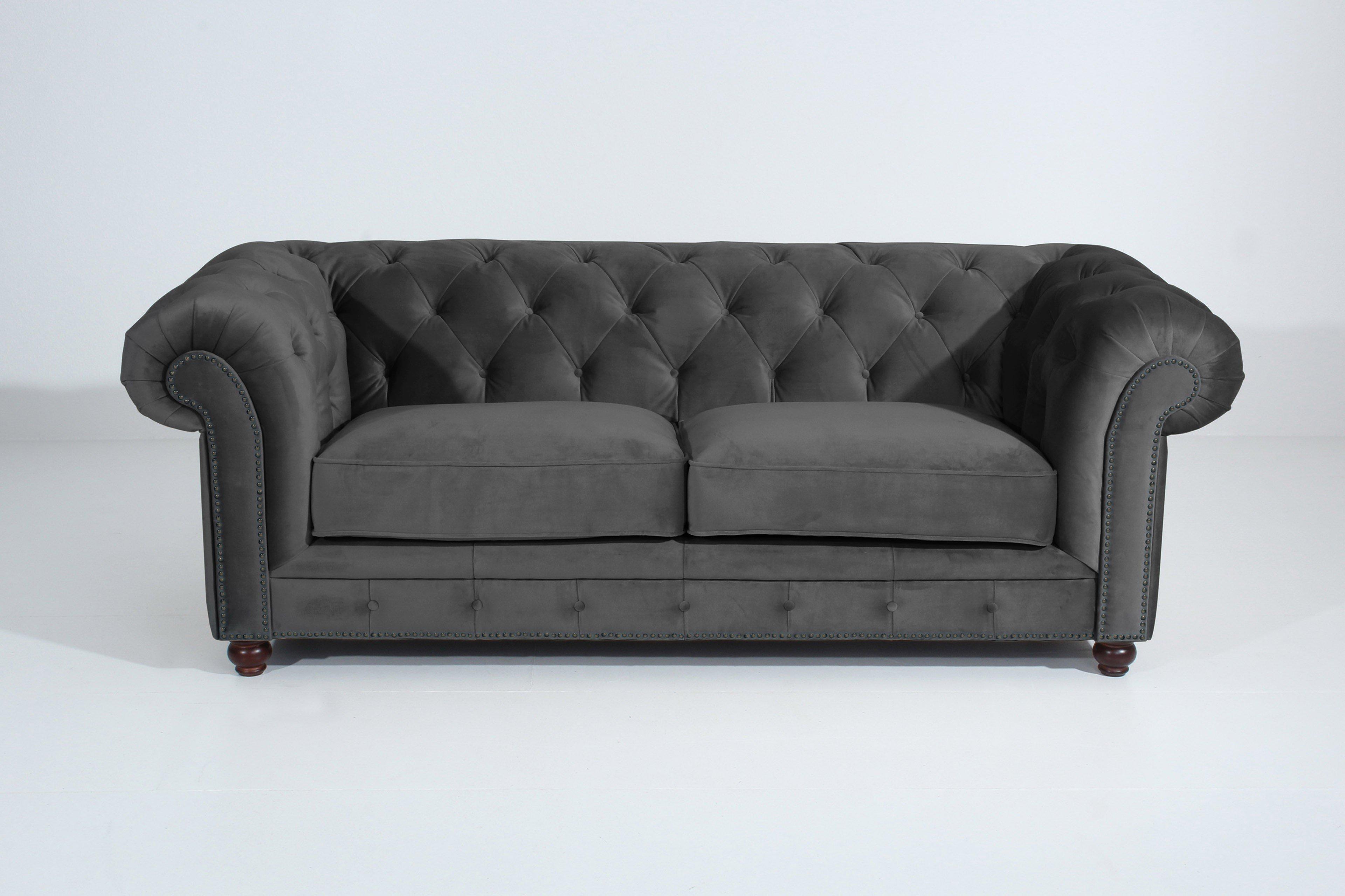 Max Winzer Orleans Chesterfield Sofa Anthrazit Möbel Letz Ihr