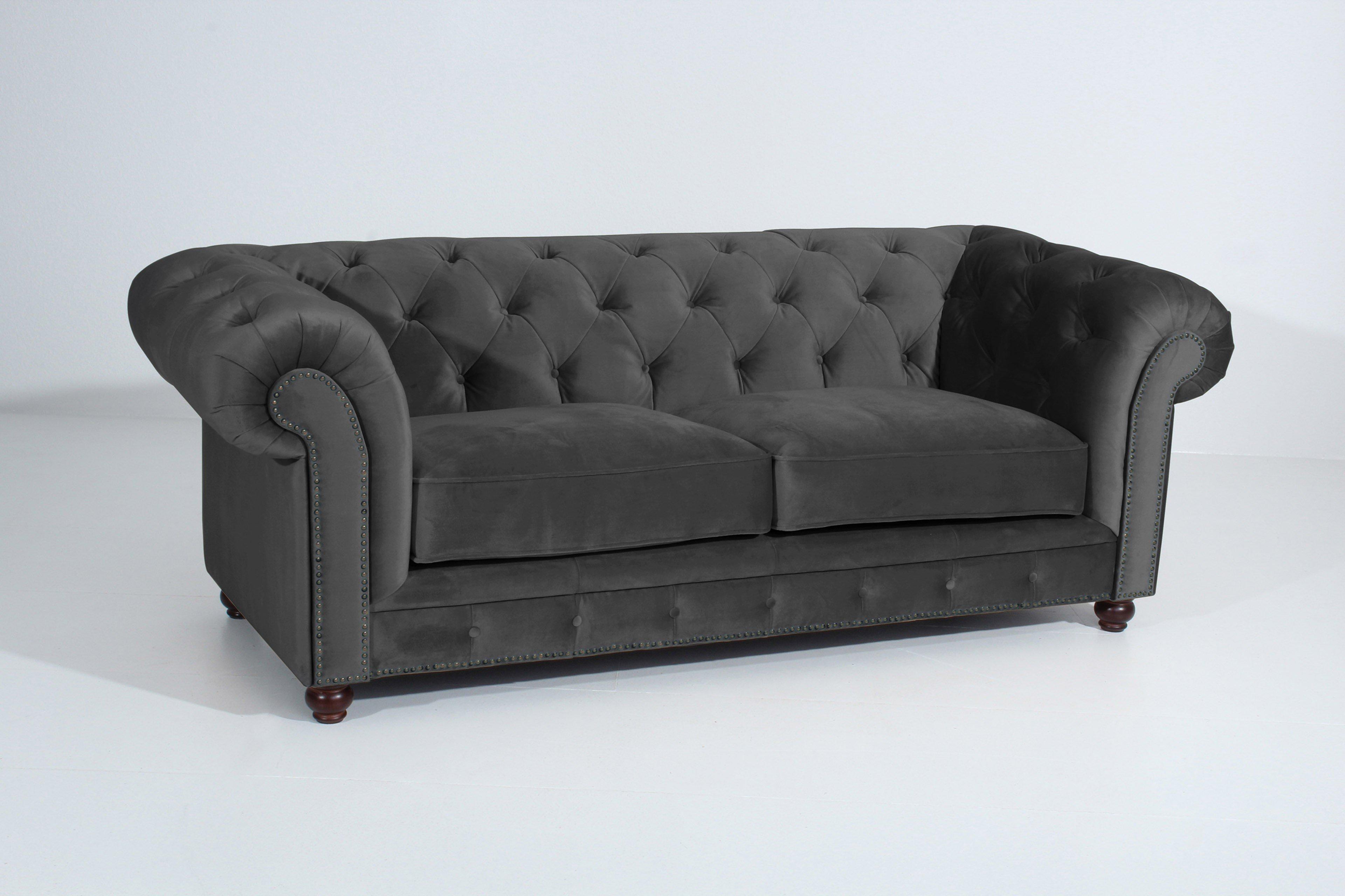 Max Winzer Orleans Chesterfield Sofa anthrazit | Möbel Letz - Ihr ...
