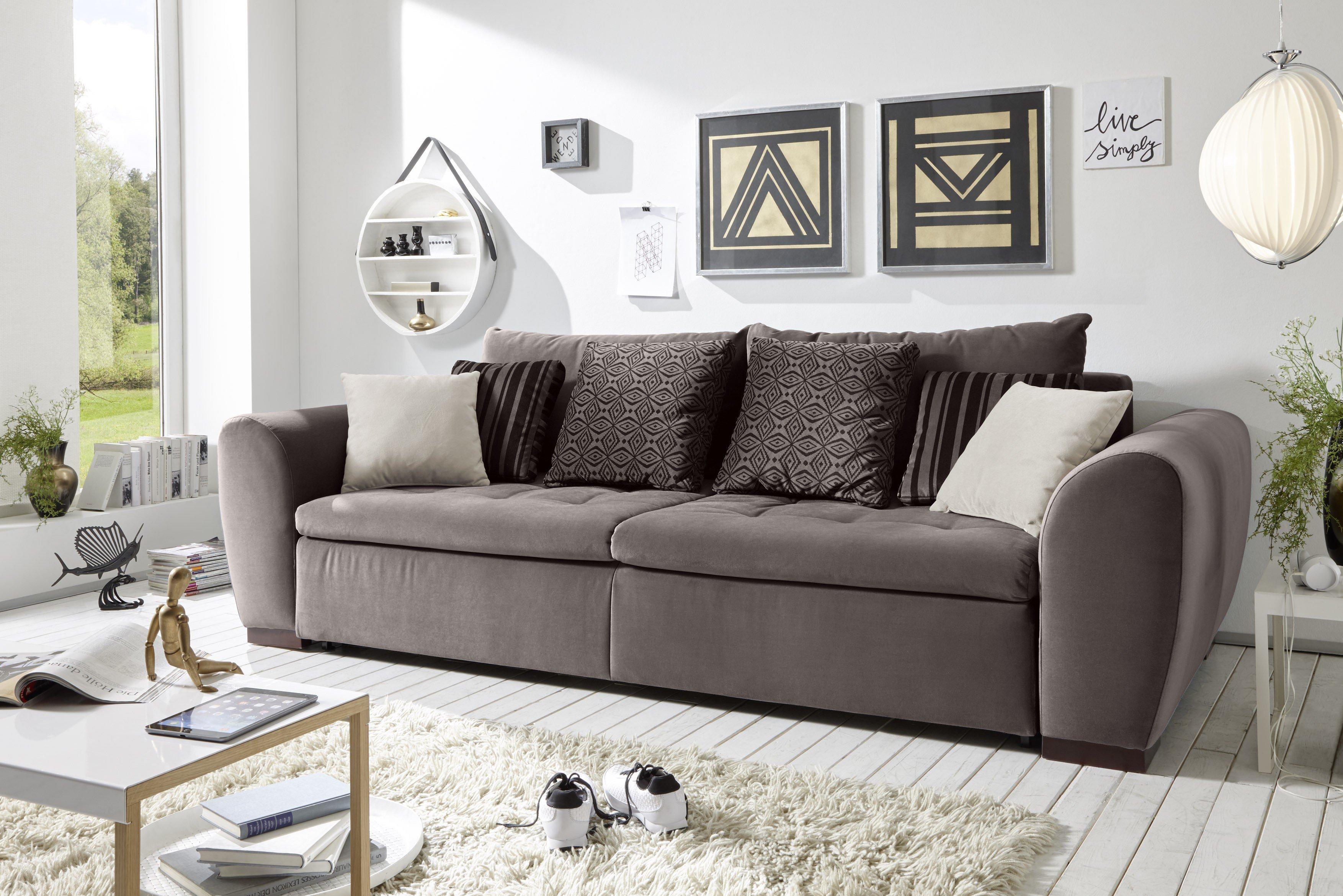 schlafsofa bigsofa gaspar von black red white in braun m bel letz ihr online shop. Black Bedroom Furniture Sets. Home Design Ideas