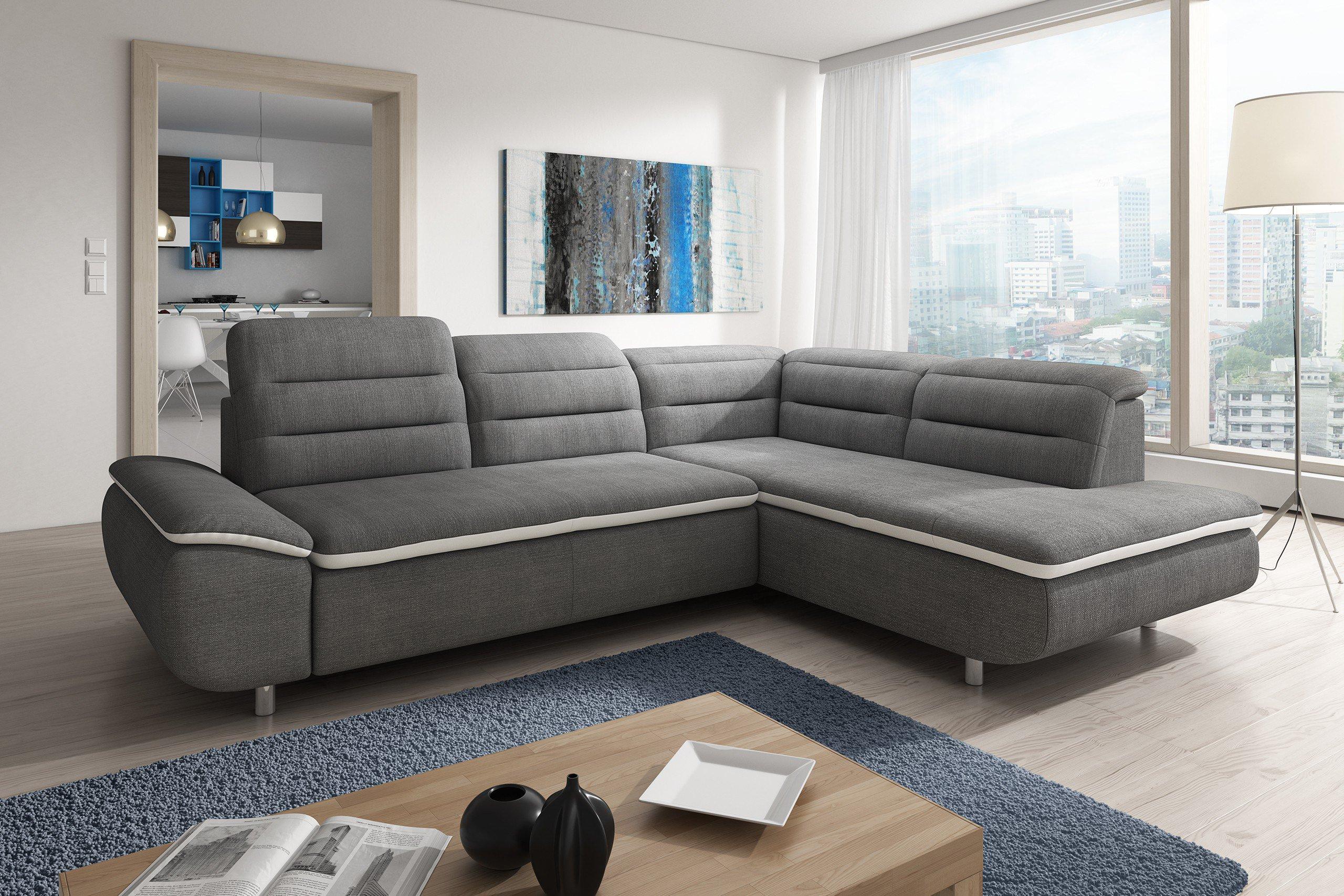new look m bel slize eckcouch in grau m bel letz ihr online shop. Black Bedroom Furniture Sets. Home Design Ideas