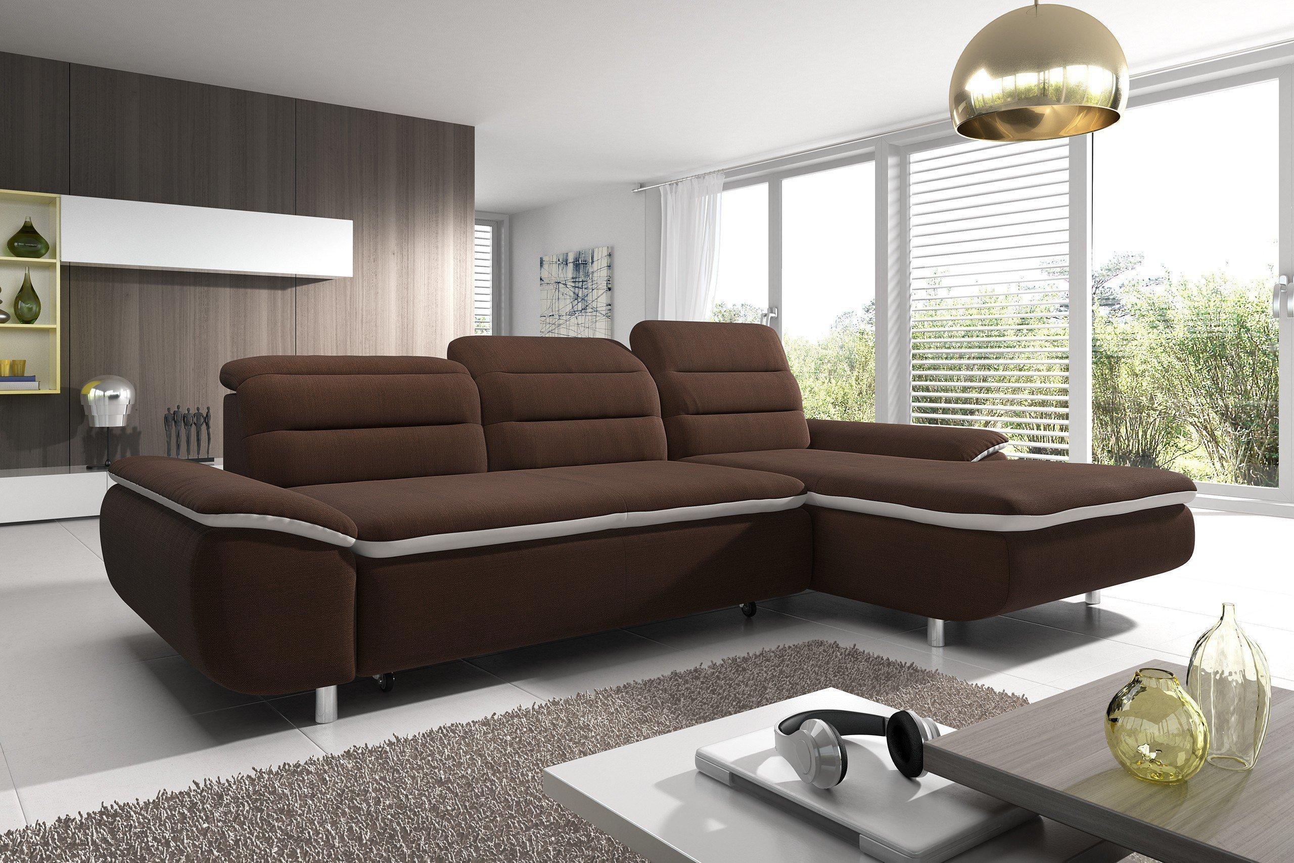 new look m bel slize polsterecke in braun m bel letz ihr online shop. Black Bedroom Furniture Sets. Home Design Ideas