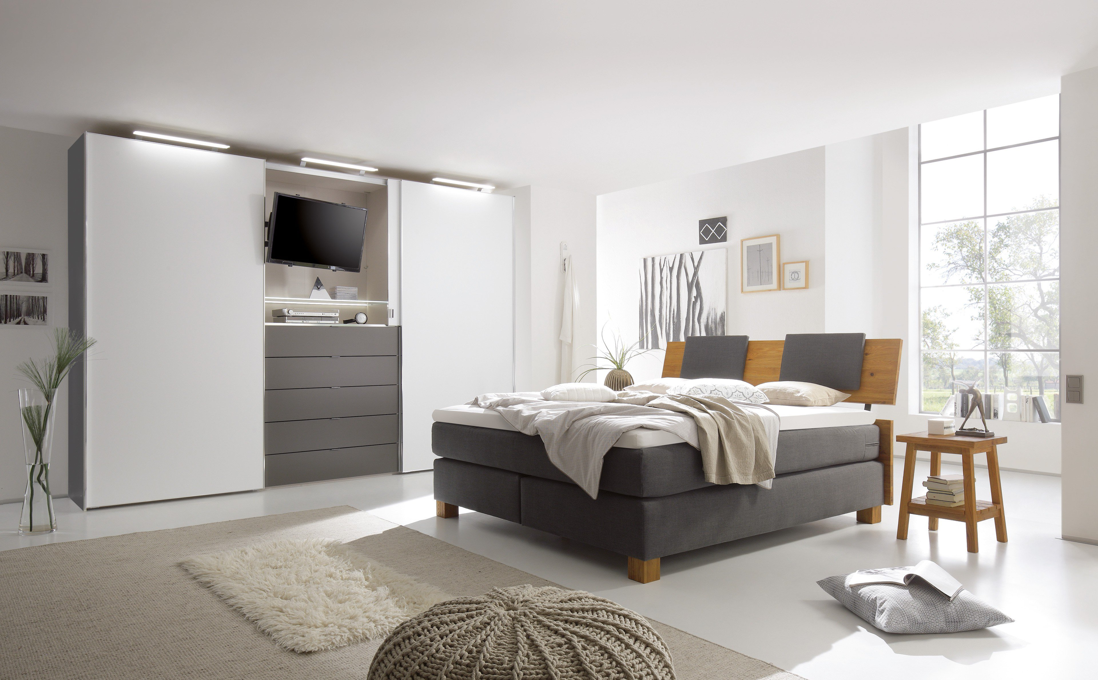 schlafzimmer ideen braunes bett. Black Bedroom Furniture Sets. Home Design Ideas