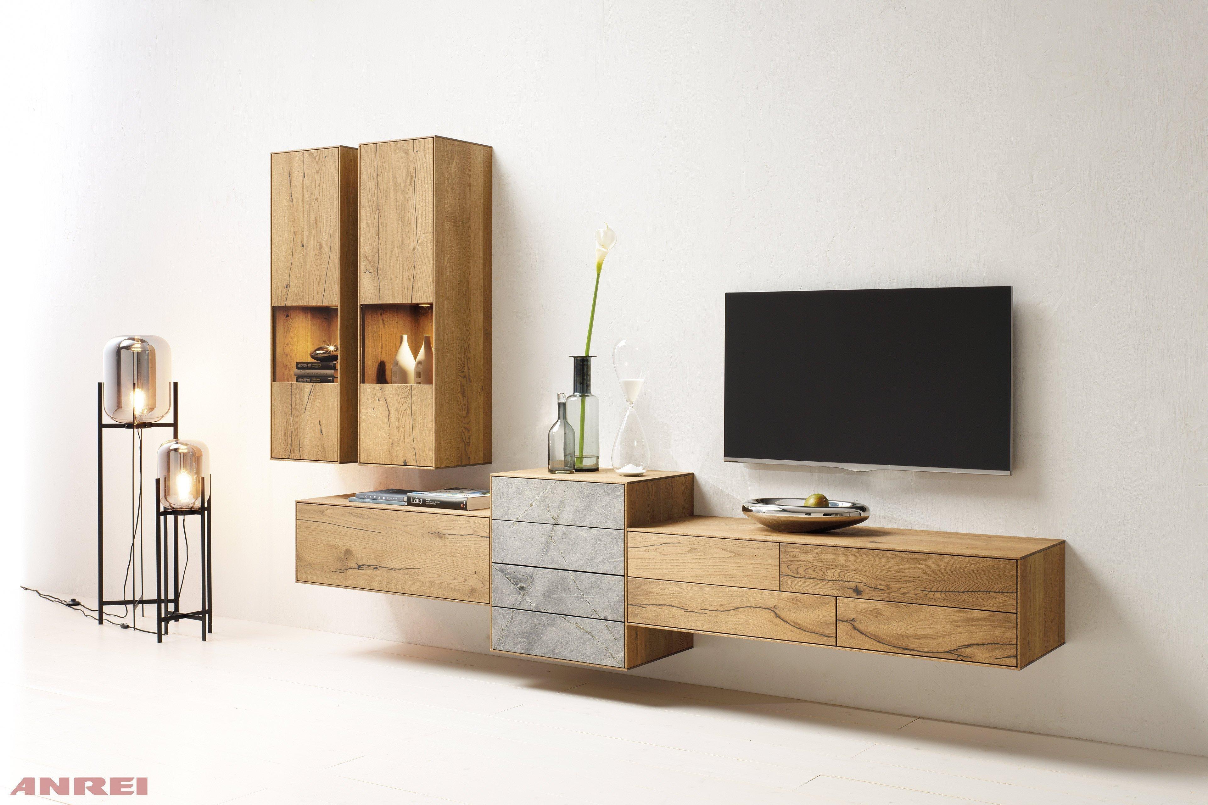wohnwand design stein moderne einrichtungsideen und inspirationen f r ihr zuhause wohnwand. Black Bedroom Furniture Sets. Home Design Ideas