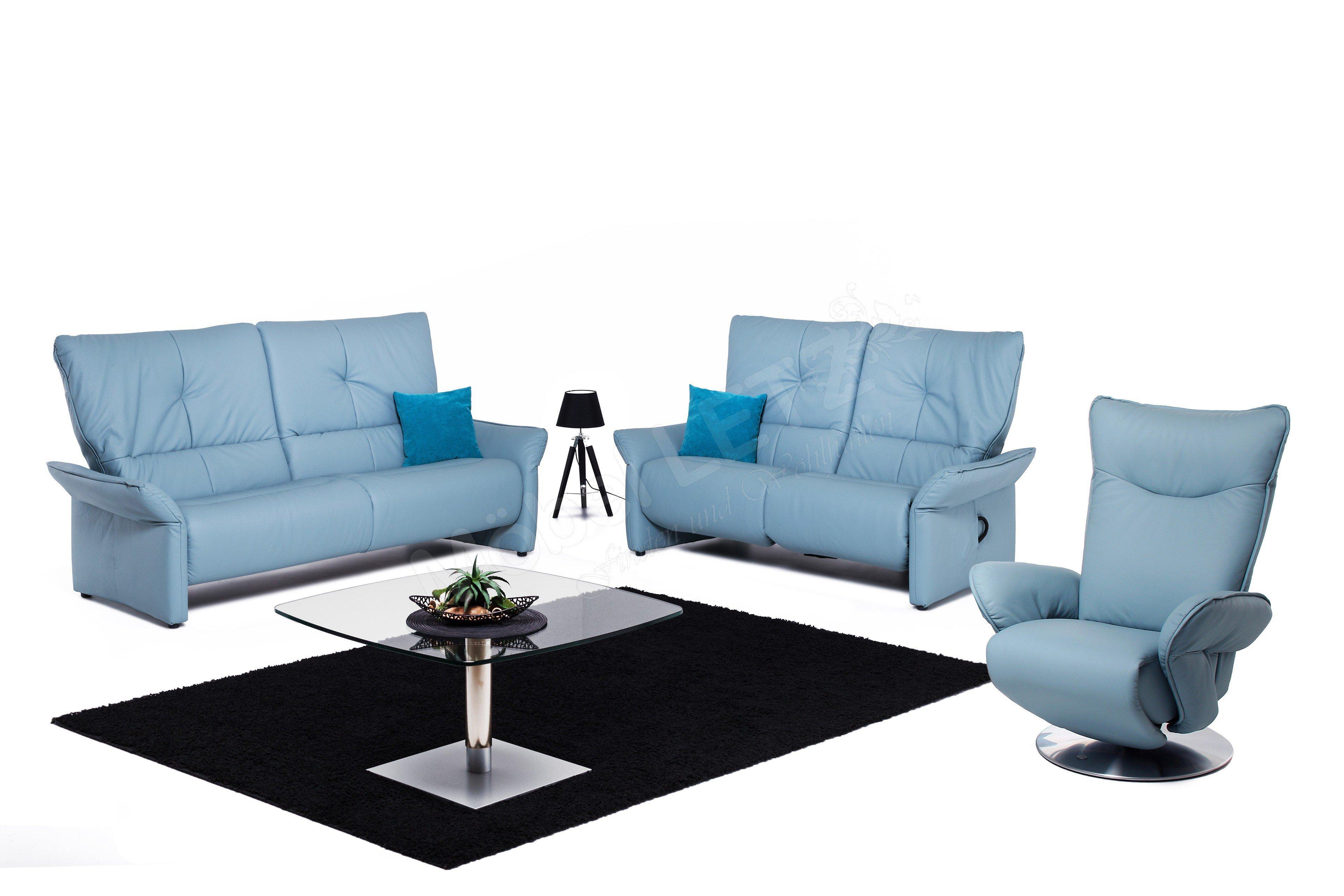 himolla polsterm bel 4513 ledergarnitur in blau m bel letz ihr online shop. Black Bedroom Furniture Sets. Home Design Ideas