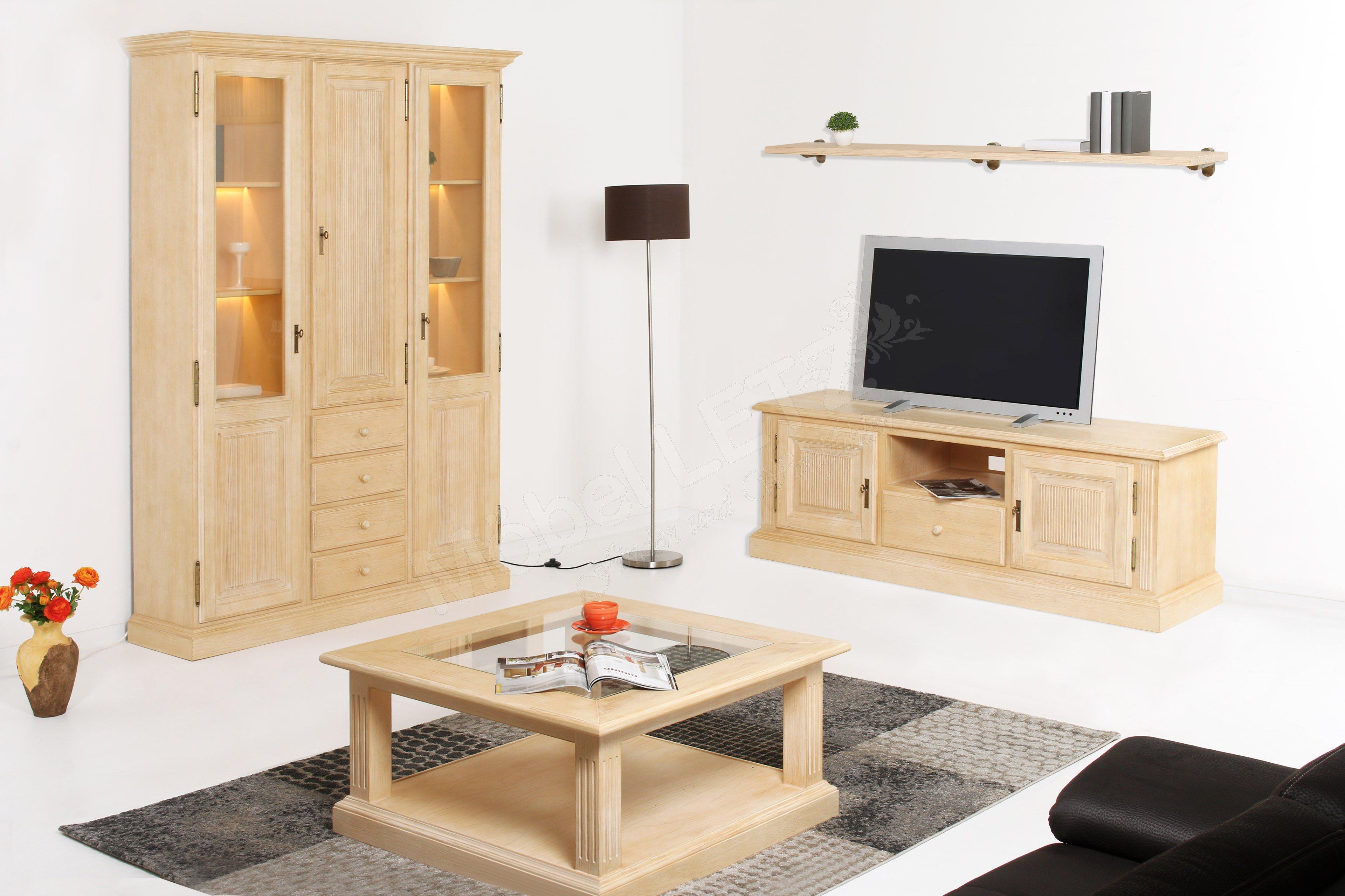 rojas mobiliario wohnwand cadiz pinie natural decap m bel letz ihr online shop. Black Bedroom Furniture Sets. Home Design Ideas