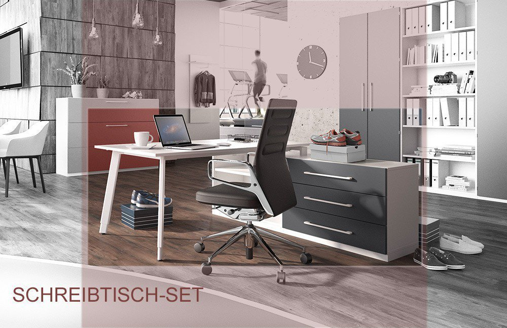 r hr schreibtisch mit regal m bel letz ihr online shop. Black Bedroom Furniture Sets. Home Design Ideas