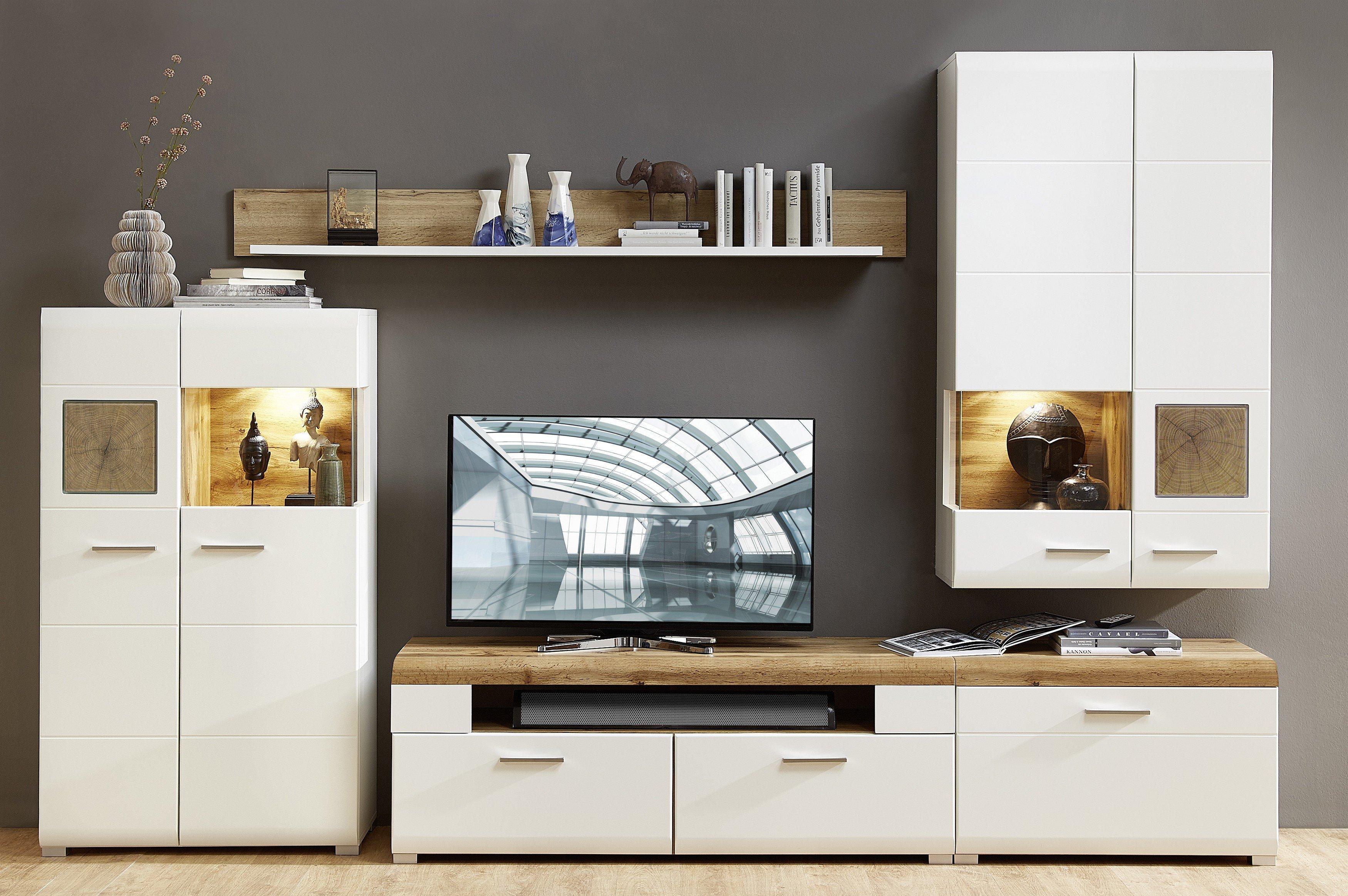 Innostyle Wohnwand Fun Plus weiß | Möbel Letz - Ihr Online-Shop