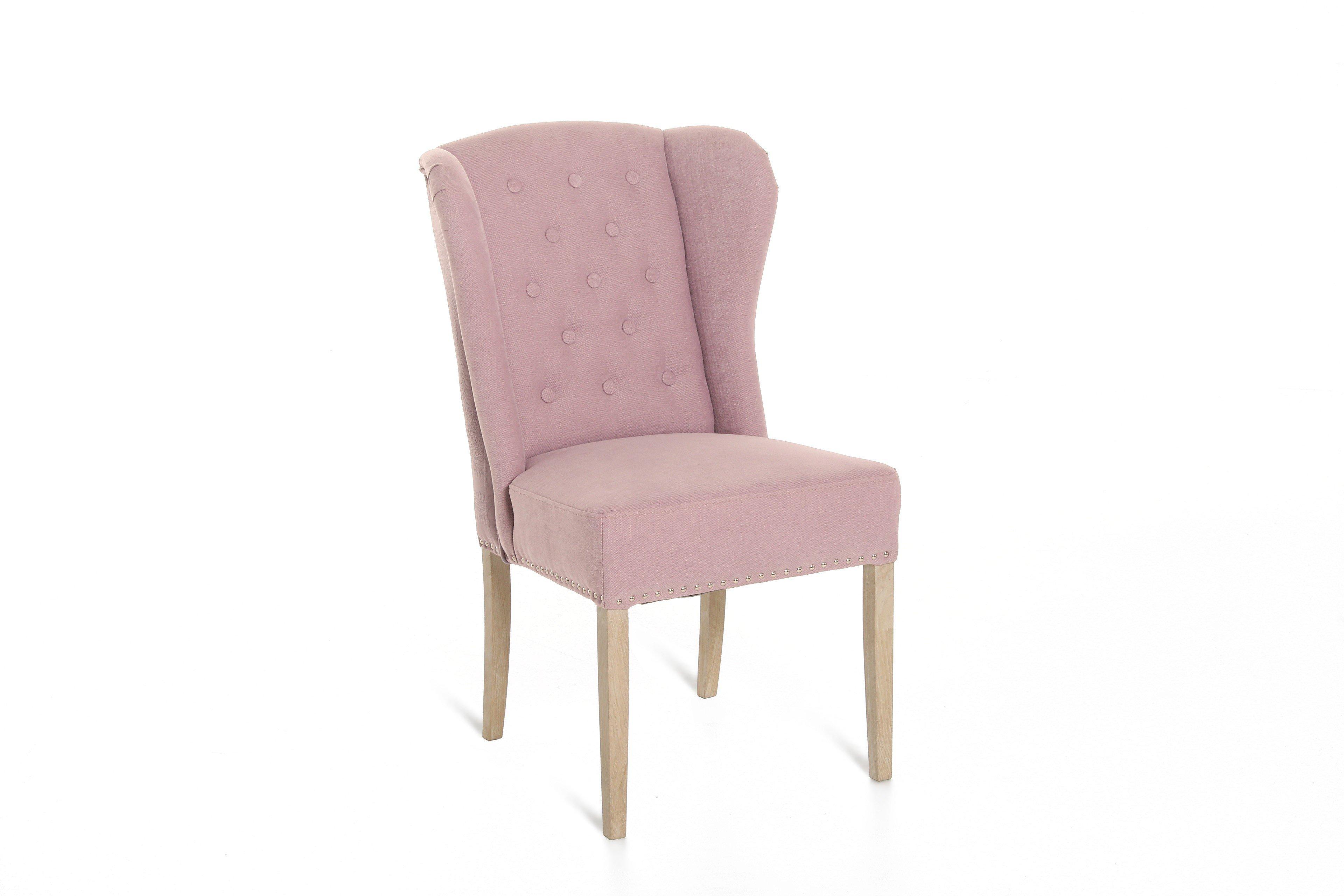 Lucca Von Primavera   Stuhl In Rosa/ Eiche Weiß Gebürstet