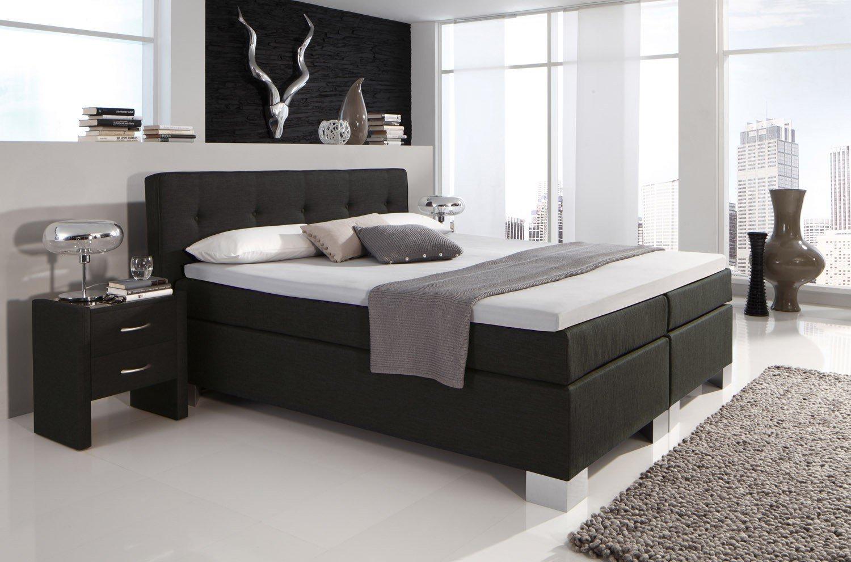 boxspringbett boston von hapo schlafm bel im edlen schwarz. Black Bedroom Furniture Sets. Home Design Ideas