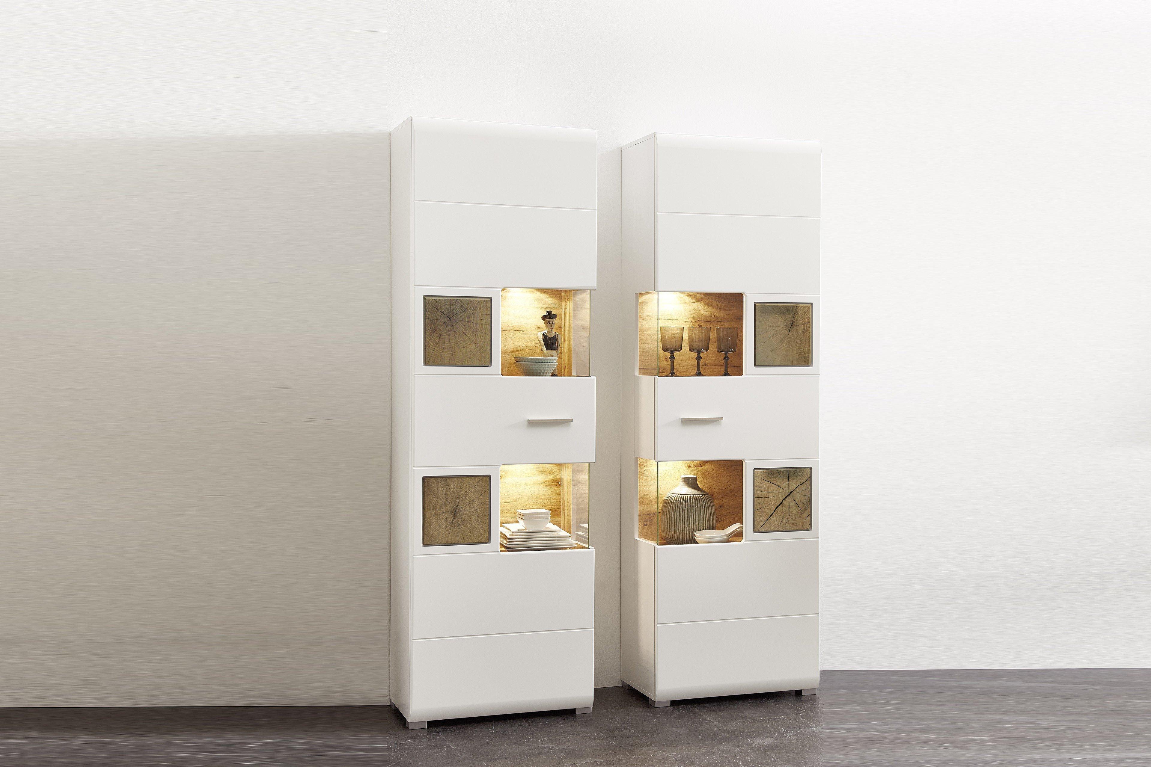 innostyle vitrine fun plus wei m bel letz ihr online shop. Black Bedroom Furniture Sets. Home Design Ideas