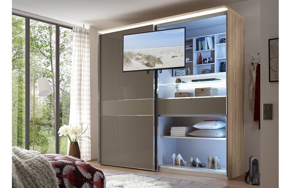 schwebet renschrank mit tv fach schwebet renschrank cinema schrank kleiderschrank in staud. Black Bedroom Furniture Sets. Home Design Ideas