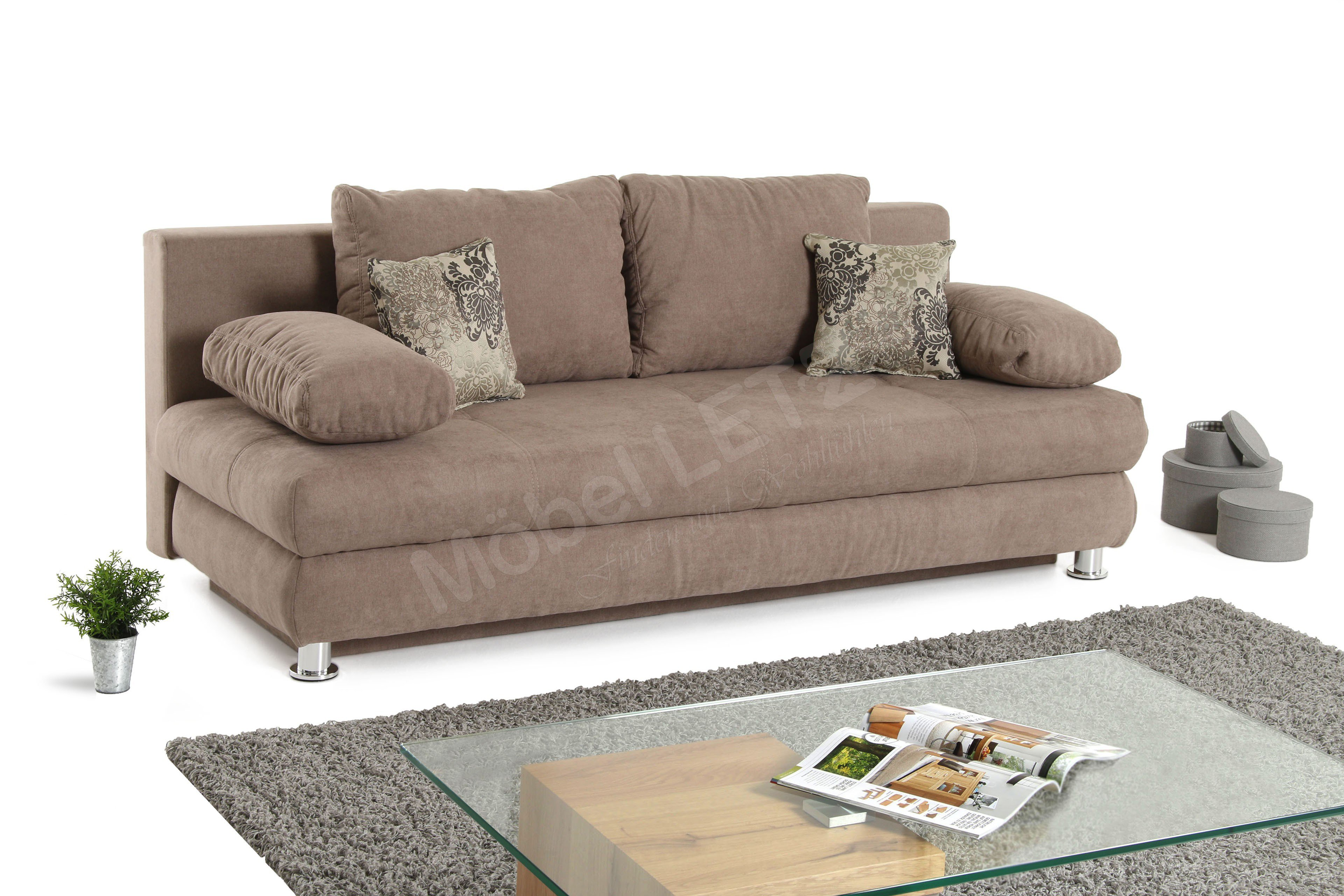 jockenh fer schlafsofa gent in hellbraun m bel letz ihr online shop. Black Bedroom Furniture Sets. Home Design Ideas