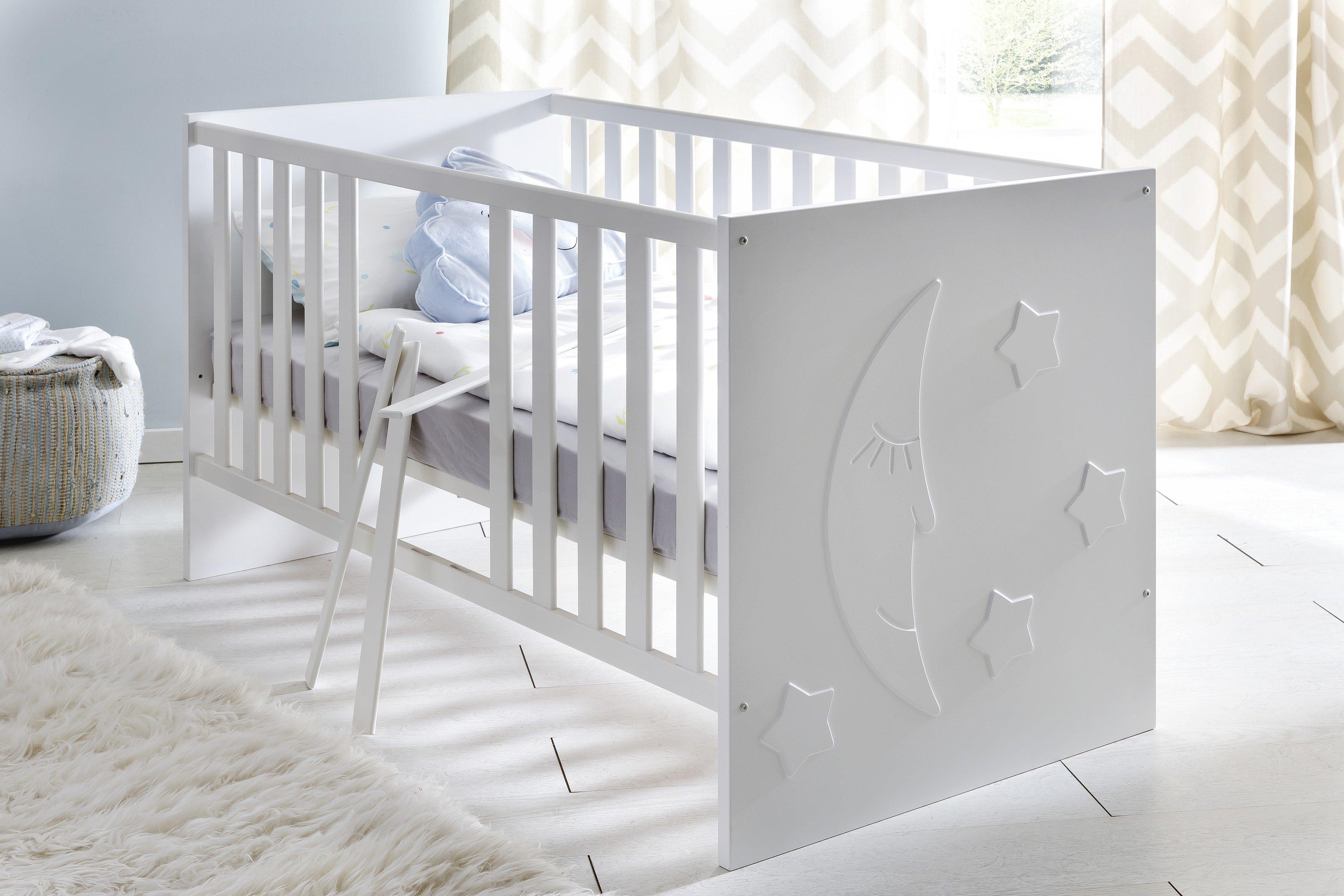 stars kinderbett von trendteam wei m bel letz ihr online shop. Black Bedroom Furniture Sets. Home Design Ideas