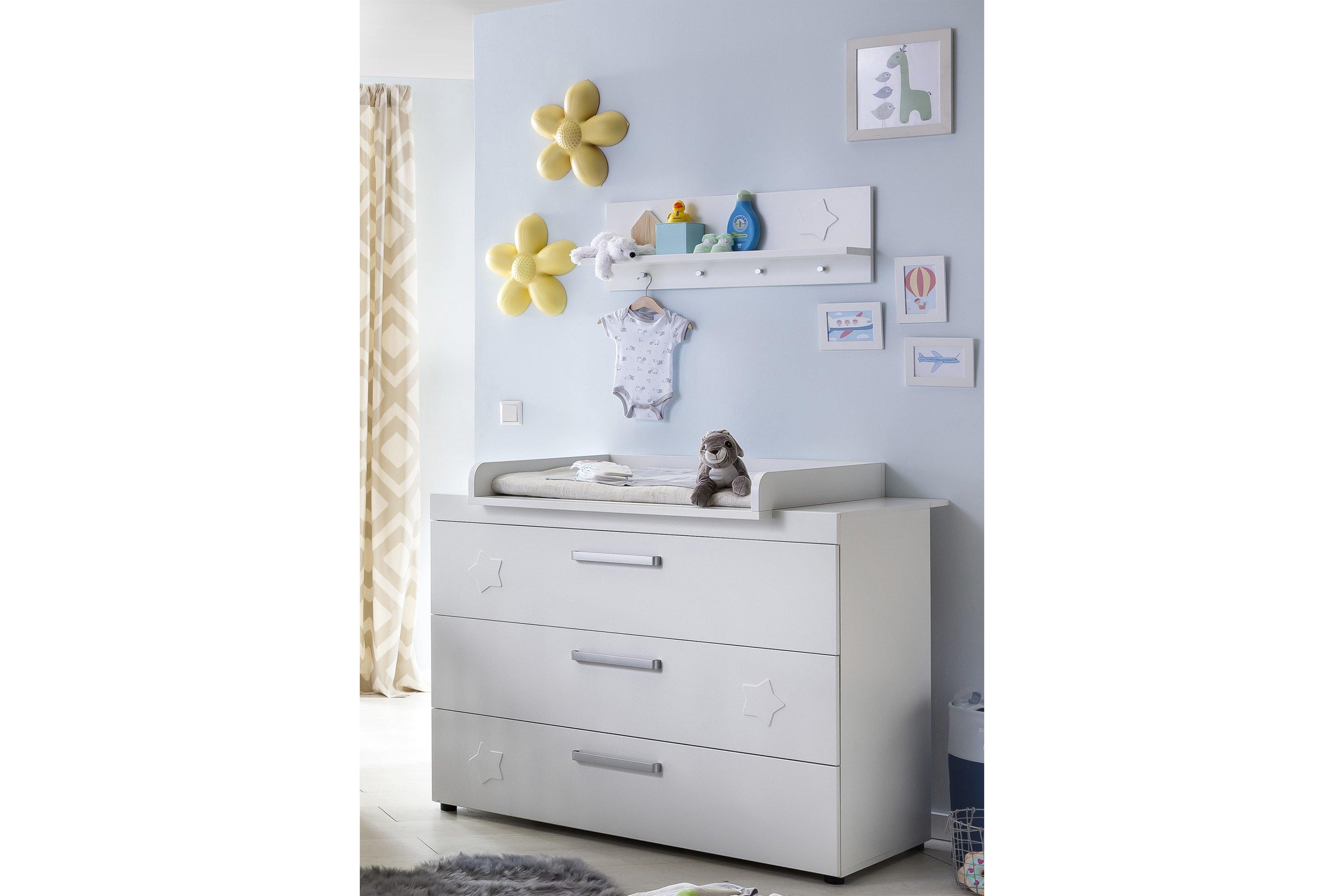 wickelkommode stars von trendteam wei m bel letz ihr online shop. Black Bedroom Furniture Sets. Home Design Ideas