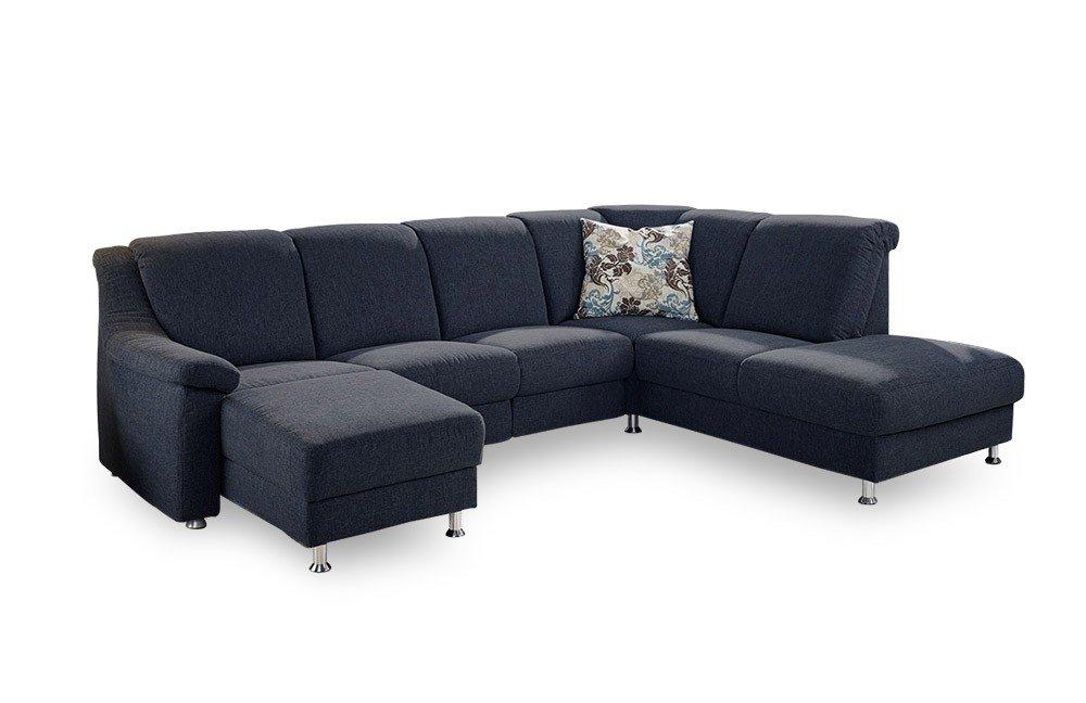 gruber polsterm bel genesis eckgarnitur in blau m bel letz ihr online shop. Black Bedroom Furniture Sets. Home Design Ideas