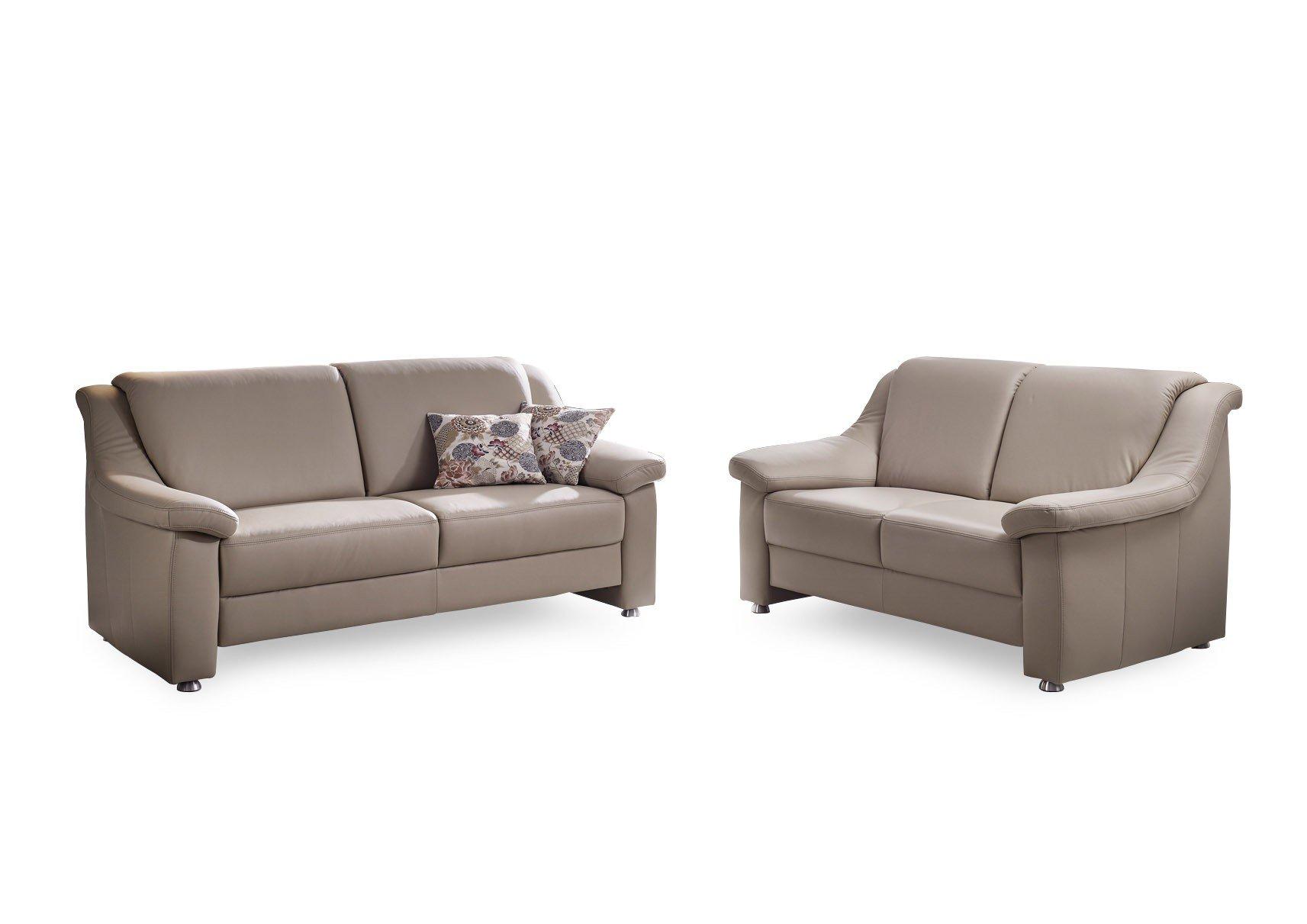 gruber polsterm bel genesis ledergarnitur in beige m bel letz ihr online shop. Black Bedroom Furniture Sets. Home Design Ideas