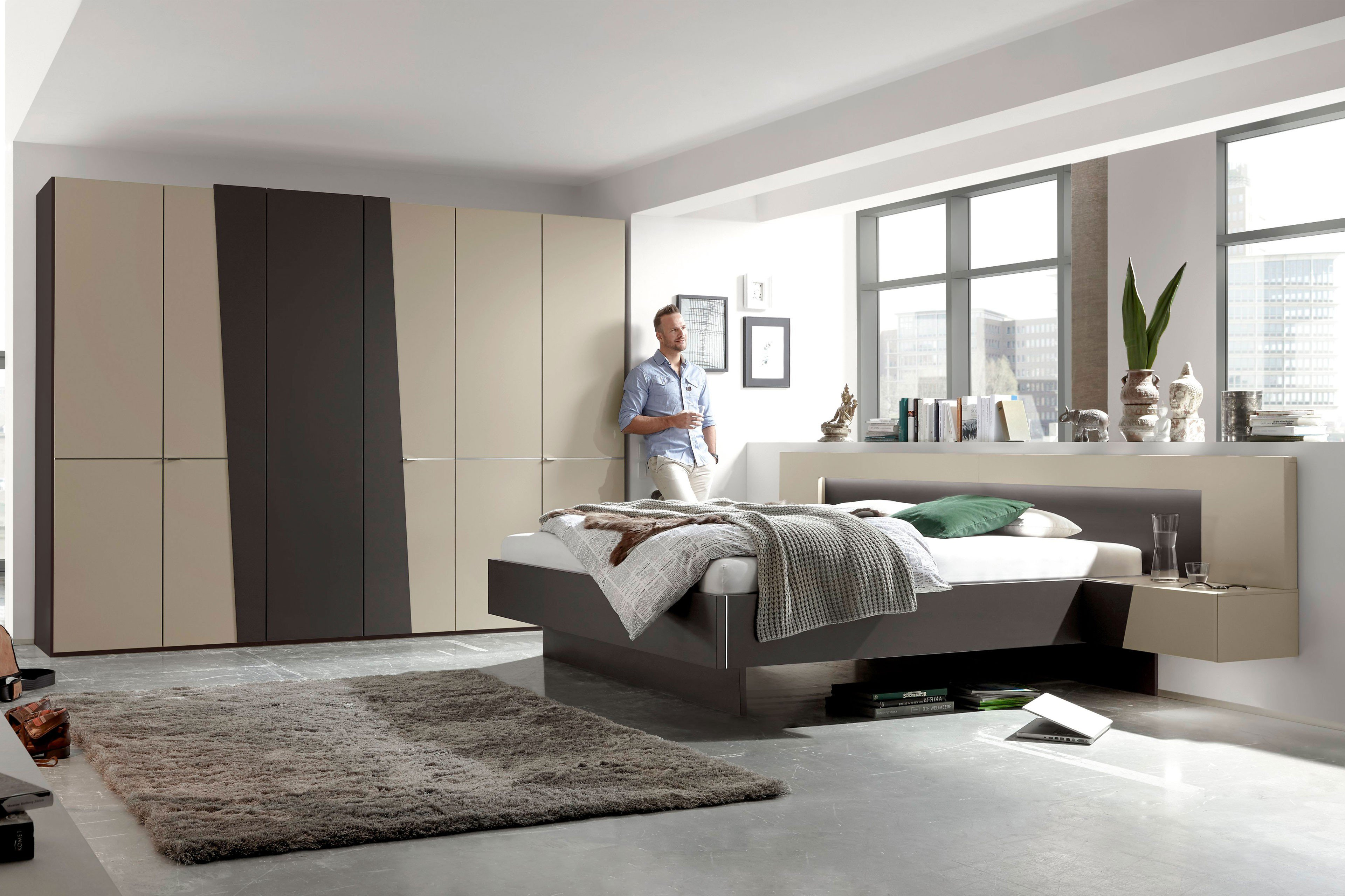 cubanit grau schlafzimmer. Black Bedroom Furniture Sets. Home Design Ideas