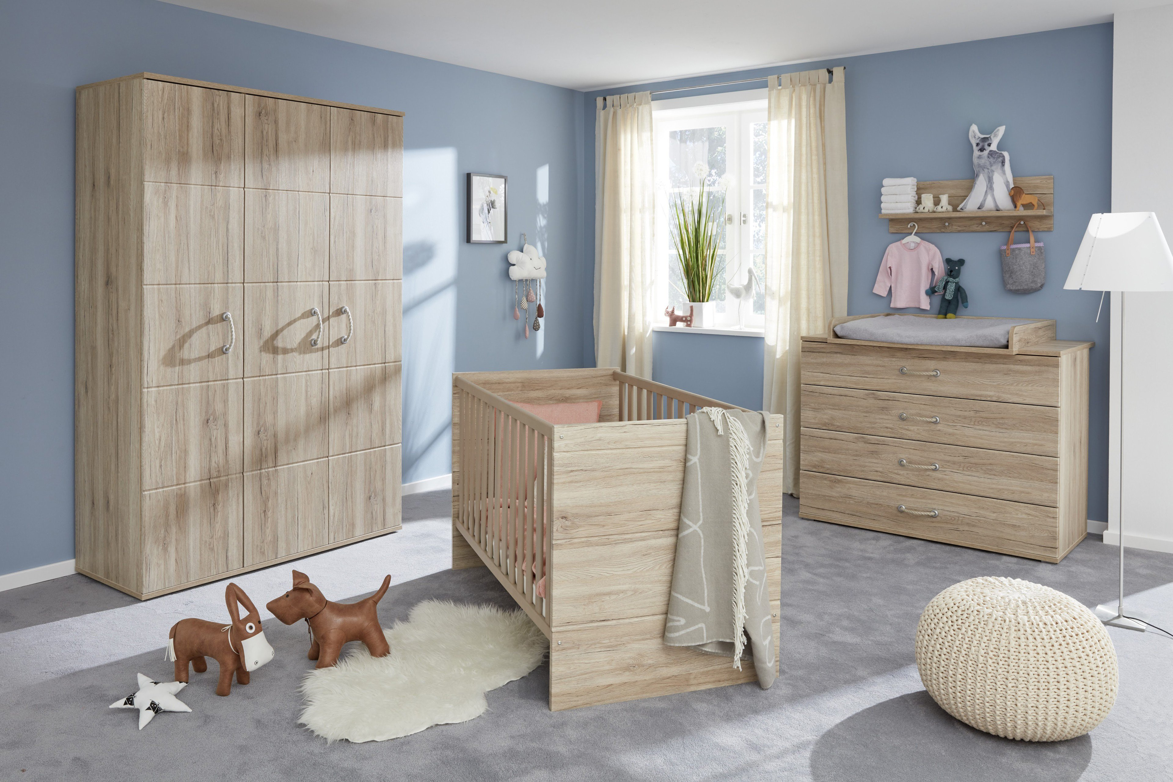 trendteam skagen babyzimmer set eiche san remo m bel. Black Bedroom Furniture Sets. Home Design Ideas