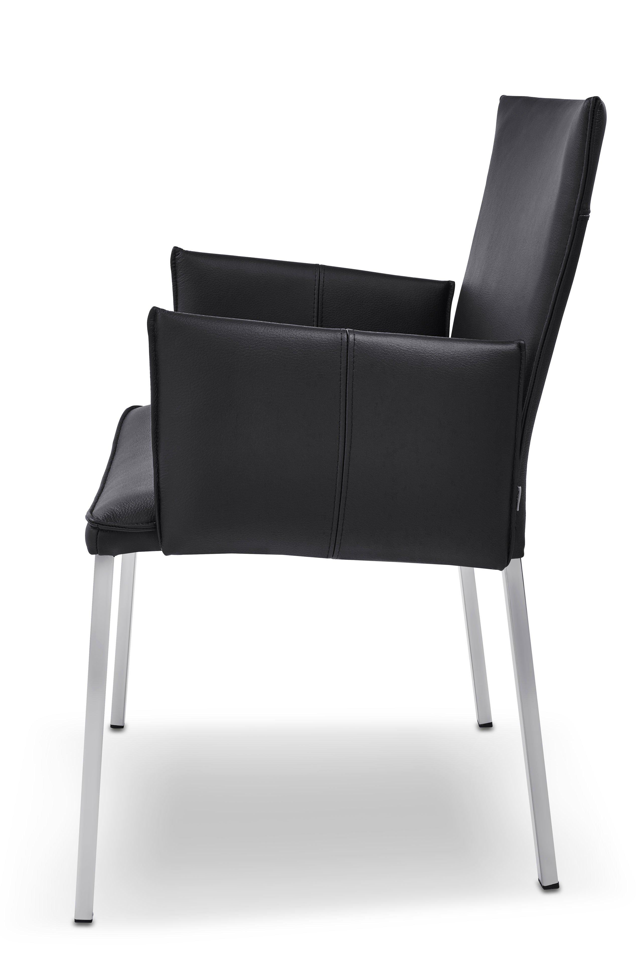 ronald schmitt stuhl stay rst 152 leder schwarz m bel letz ihr online shop. Black Bedroom Furniture Sets. Home Design Ideas