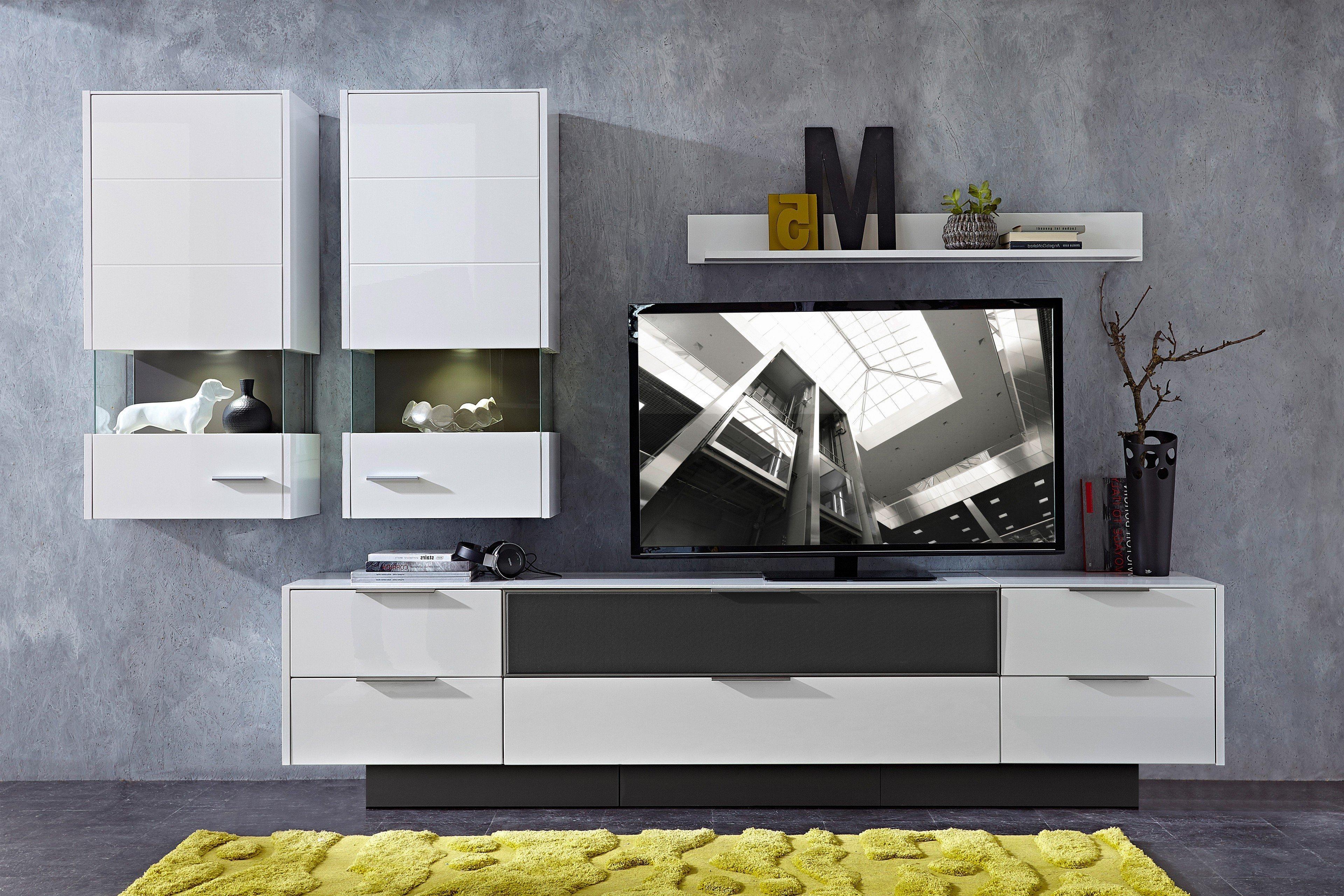 Innostyle Wohnwand Median Weiß Hochglanz Möbel Letz Ihr Online Shop