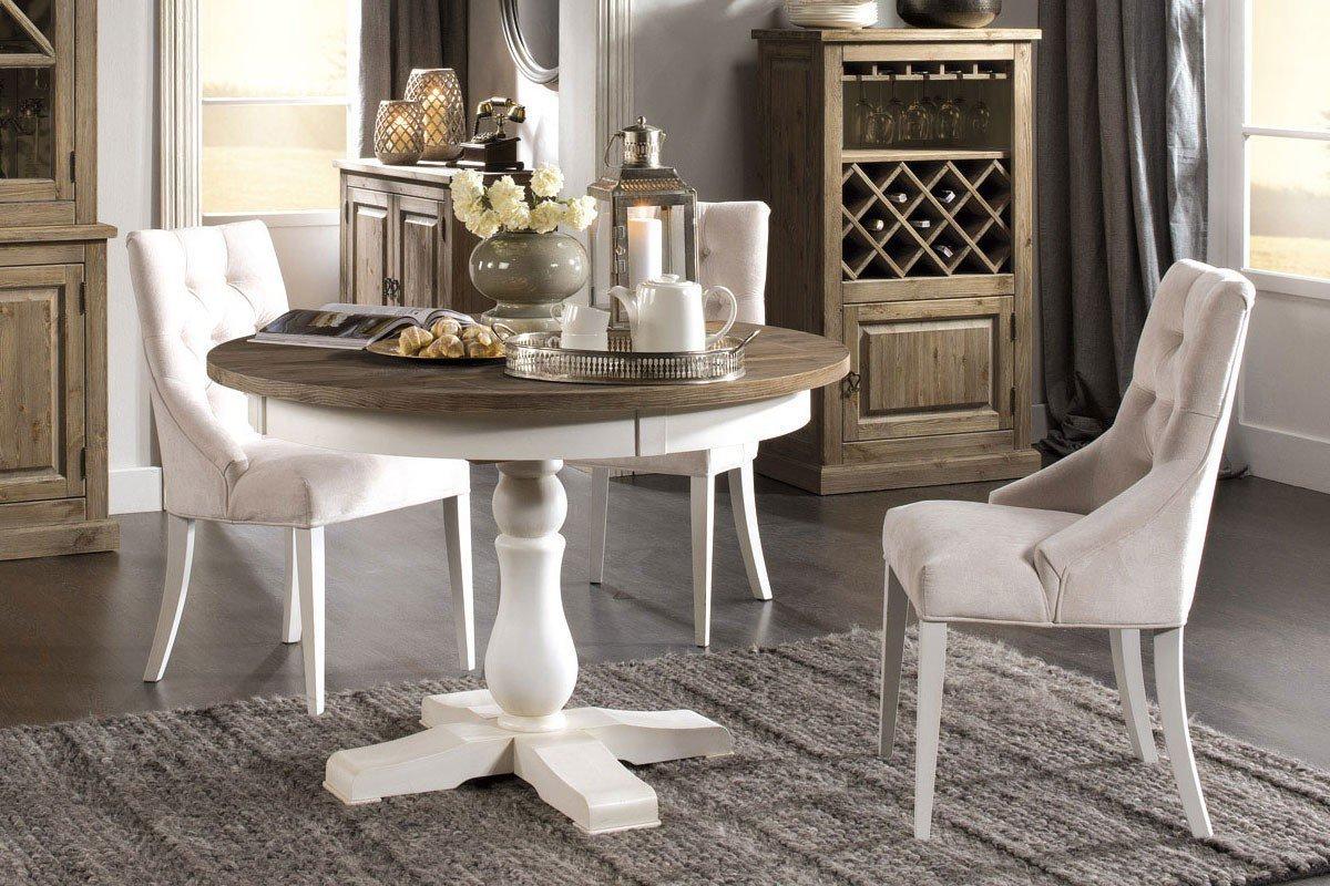 essgruppe romantica wei holz antik aus der kollektion letz m bel letz ihr online shop. Black Bedroom Furniture Sets. Home Design Ideas