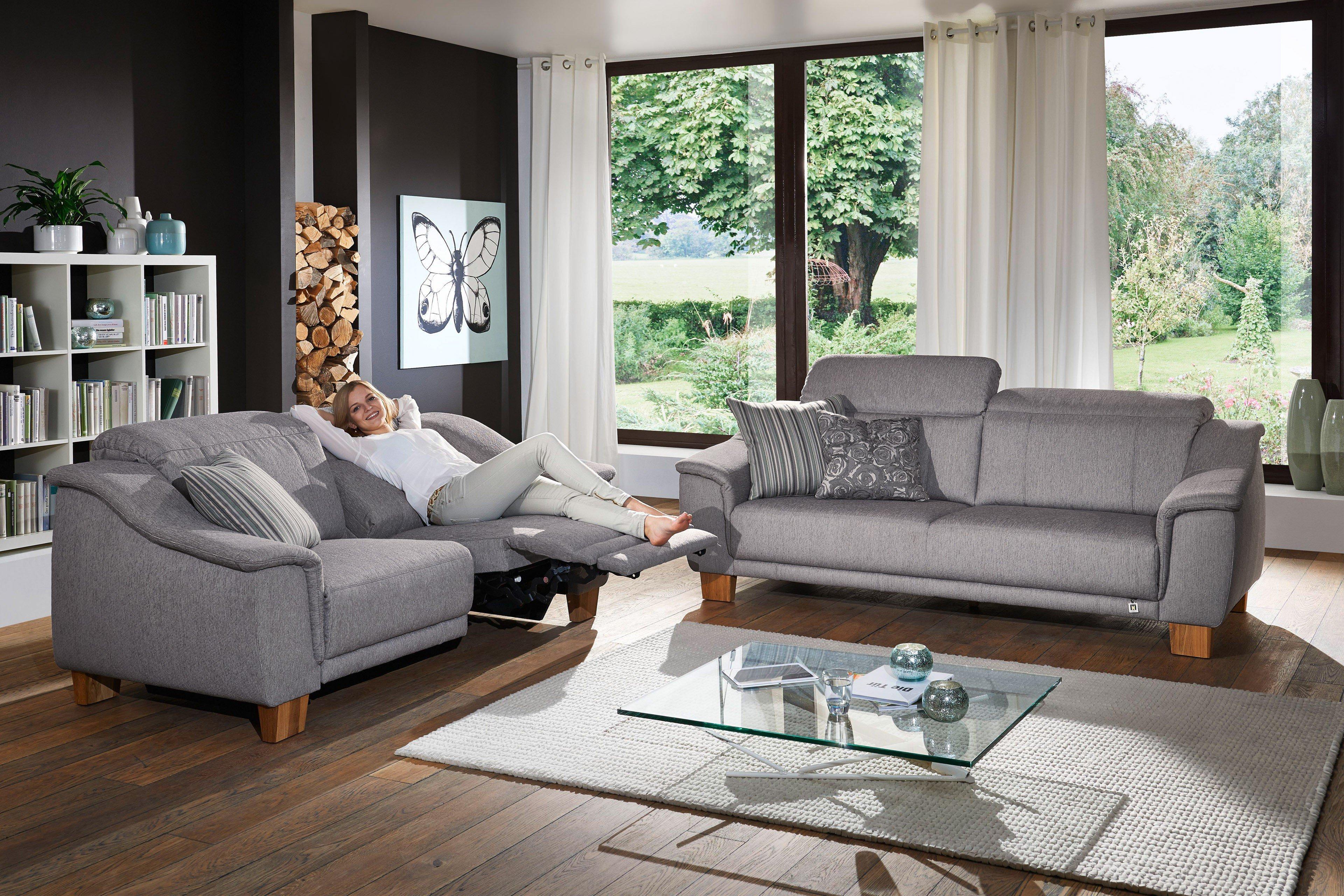 f s polsterm bel 260 messina polstergarnitur in grau m bel letz ihr online shop. Black Bedroom Furniture Sets. Home Design Ideas