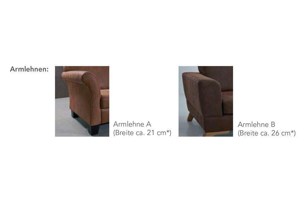 f s polsterm bel 250 palermo ecksofa in braun m bel letz ihr online shop. Black Bedroom Furniture Sets. Home Design Ideas