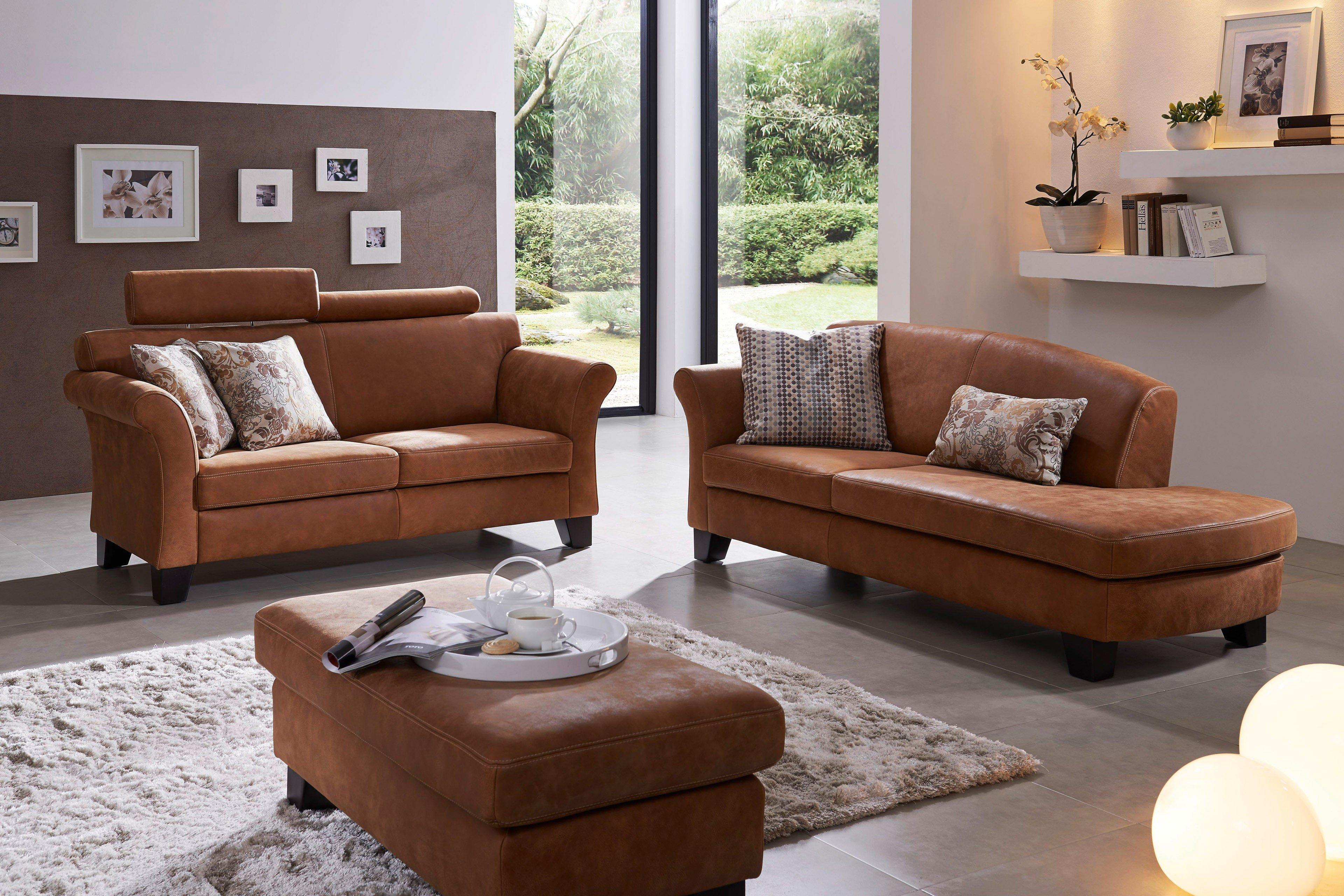 f s polsterm bel 250 palermo couchgarnitur in hellbraun m bel letz ihr online shop. Black Bedroom Furniture Sets. Home Design Ideas