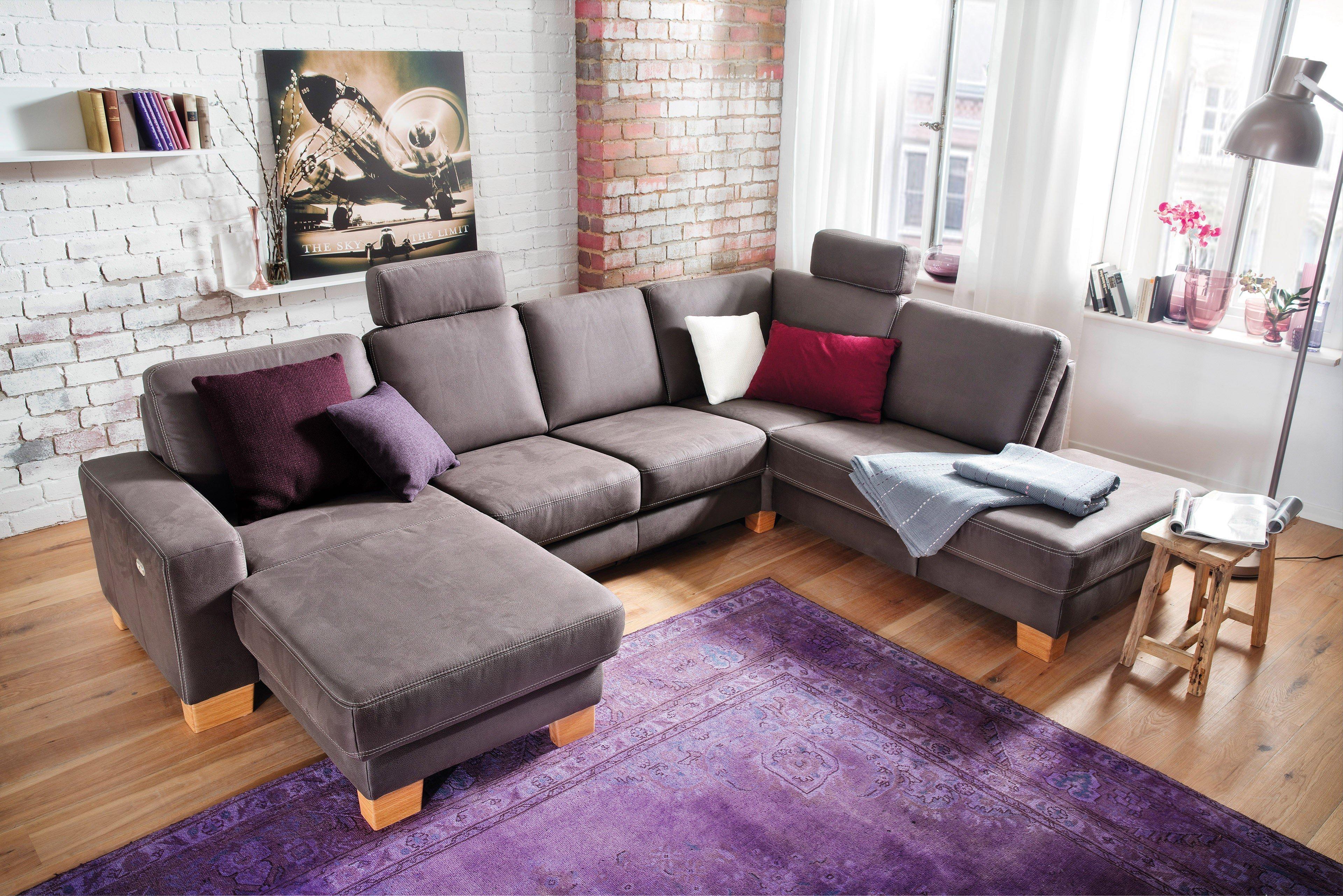 carina diamo u f rmiges ecksofa in braun m bel letz ihr online shop. Black Bedroom Furniture Sets. Home Design Ideas