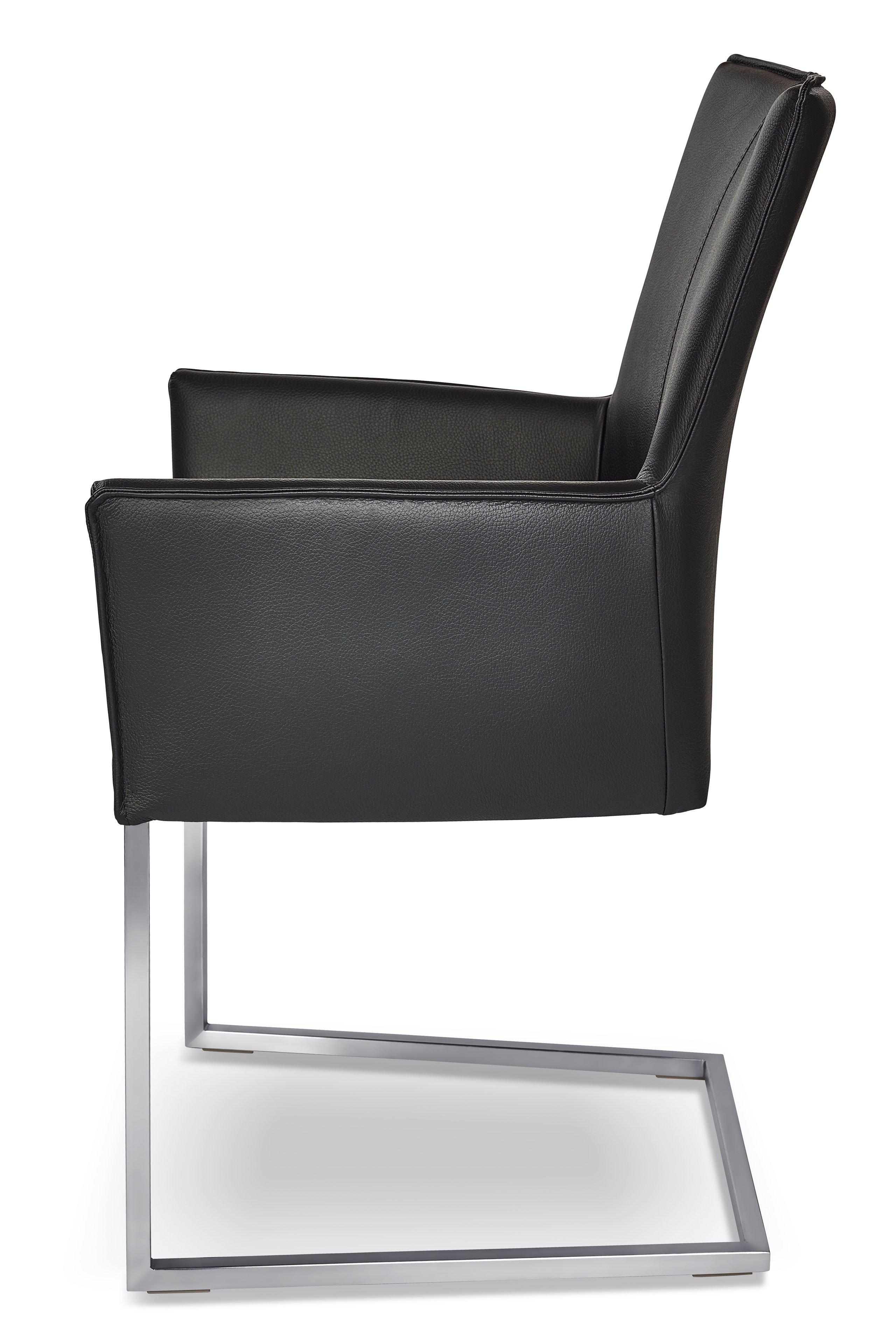 ronald schmitt luka stuhl rst 178 leder nero m bel letz ihr online shop. Black Bedroom Furniture Sets. Home Design Ideas