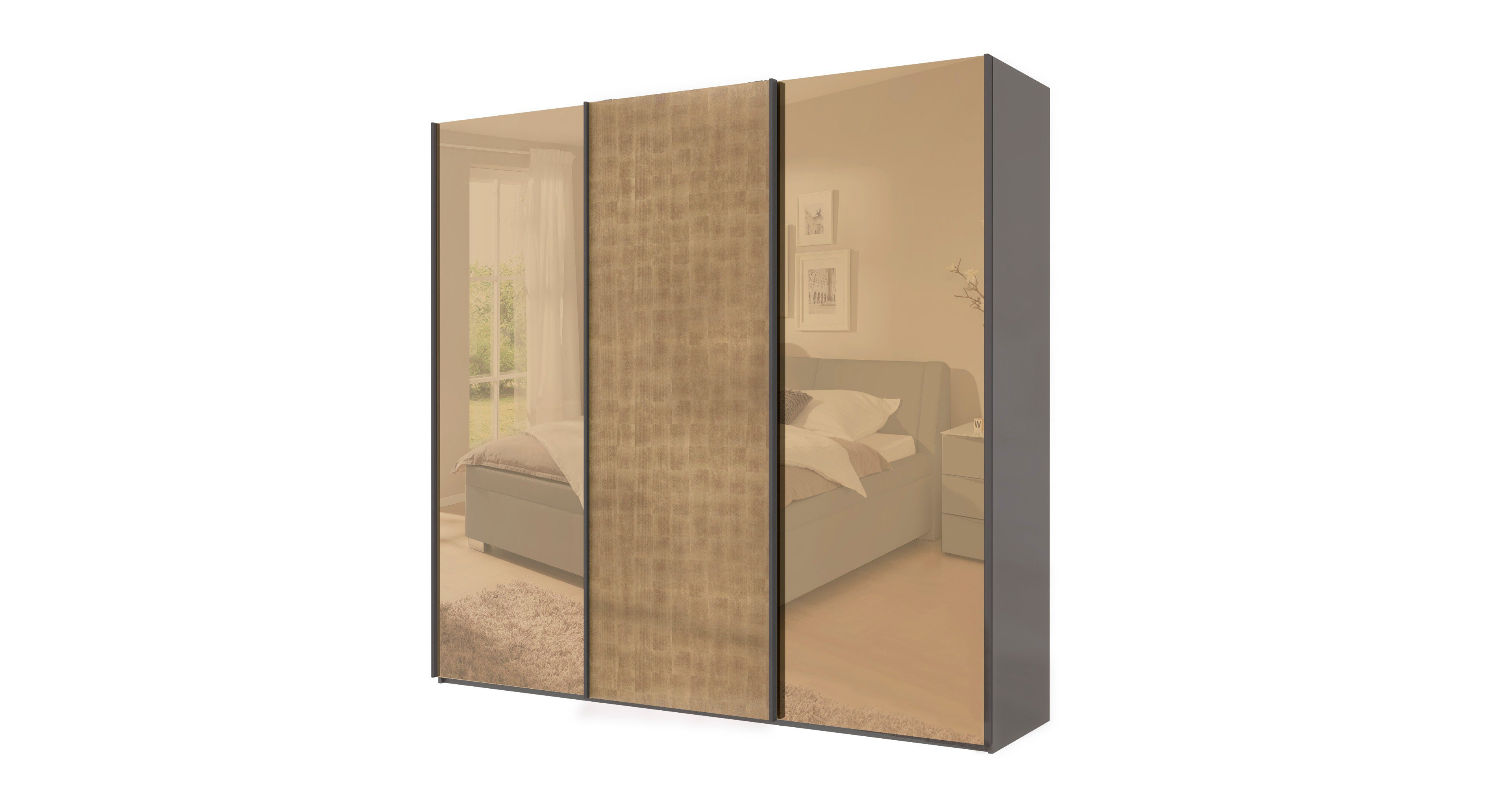 Wellemöbel Luxury Schwebetürenschrank Luxury Effekt | Möbel Letz ...