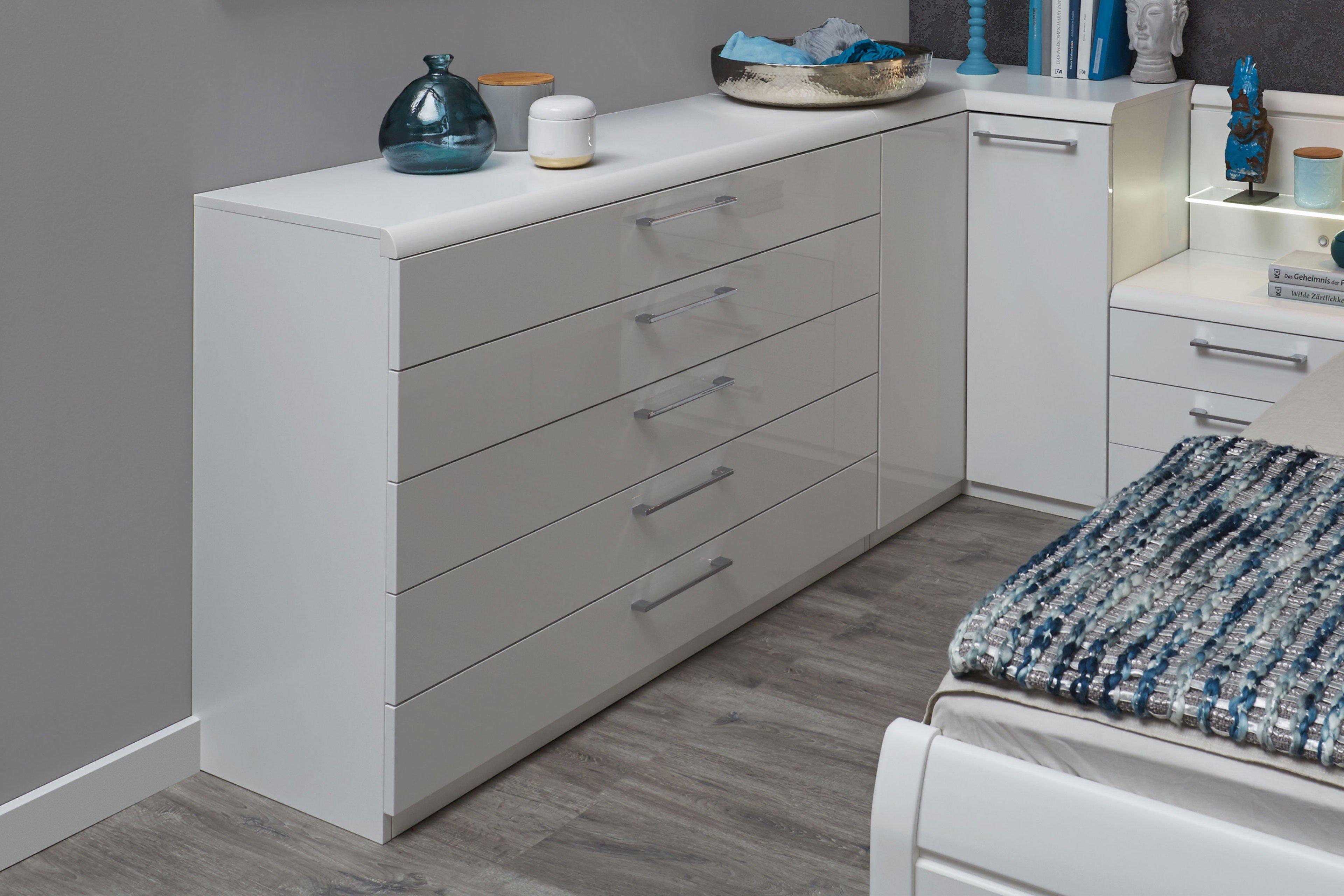 disselkamp kommode comfort v hochglanz wei m bel letz ihr online shop. Black Bedroom Furniture Sets. Home Design Ideas