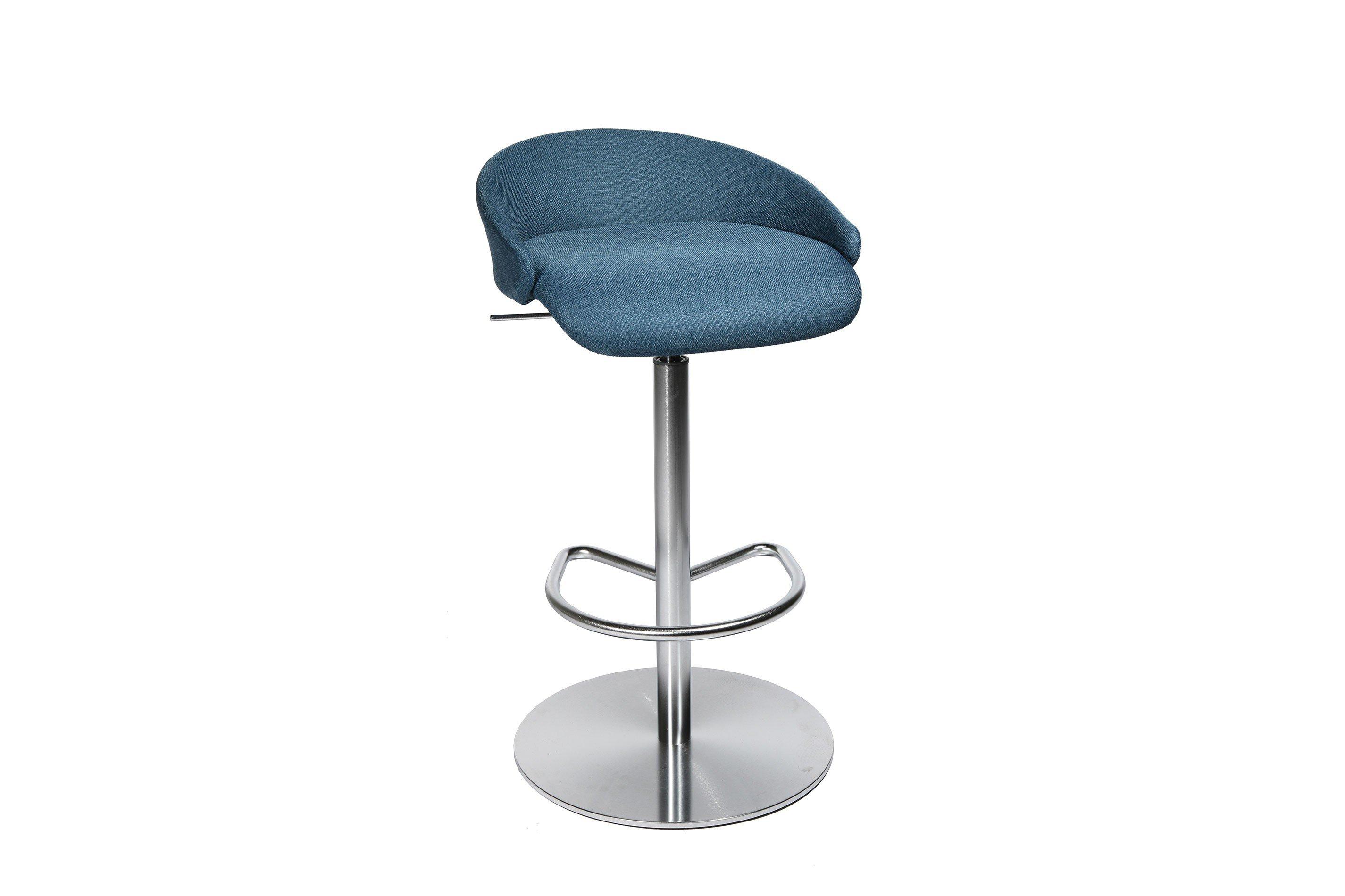 Topstar barhocker sitness stool 20 blau edelstahl optik for Barhocker verstellbar edelstahl
