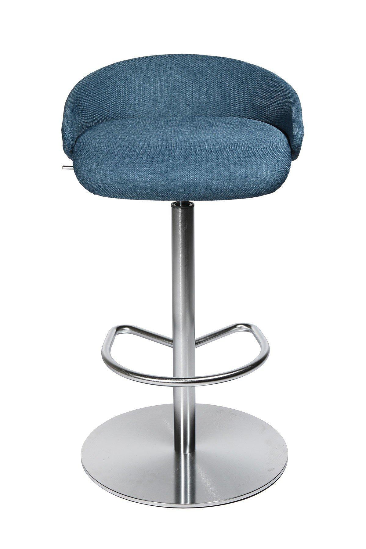 topstar barhocker sitness stool 20 blau edelstahl optik möbel