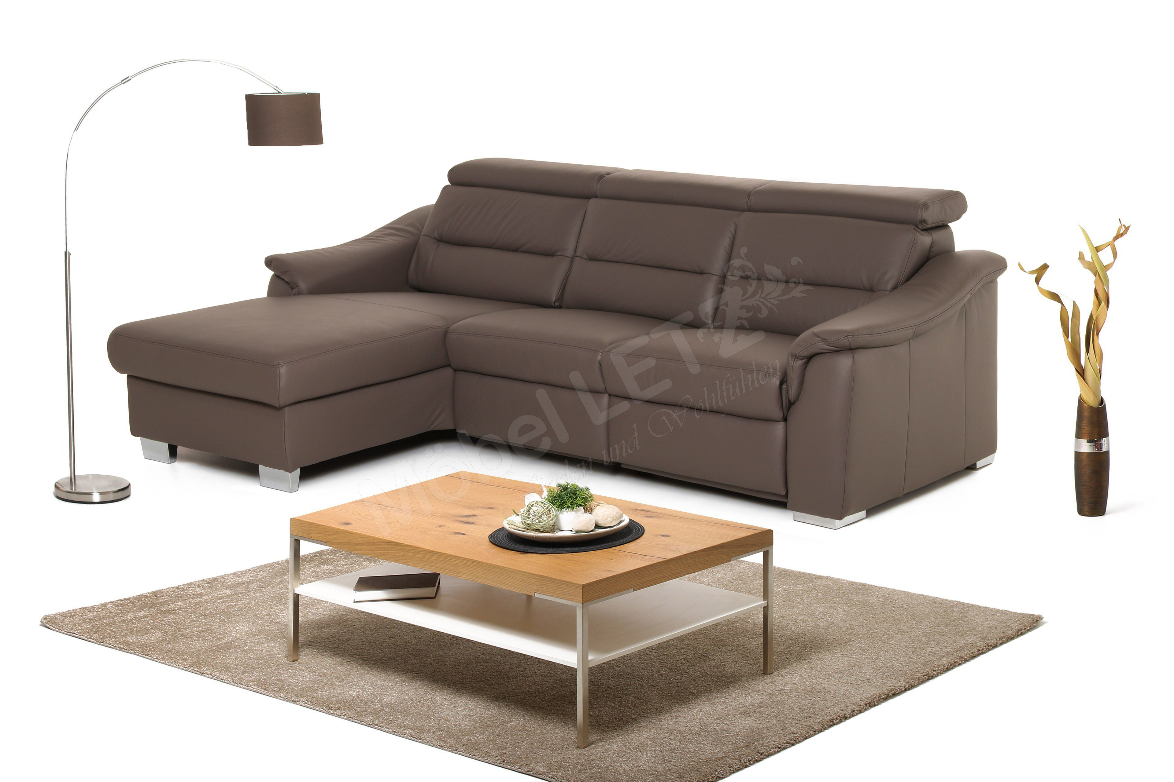 polinova polsterm bel comet l ledersofa braun m bel letz. Black Bedroom Furniture Sets. Home Design Ideas