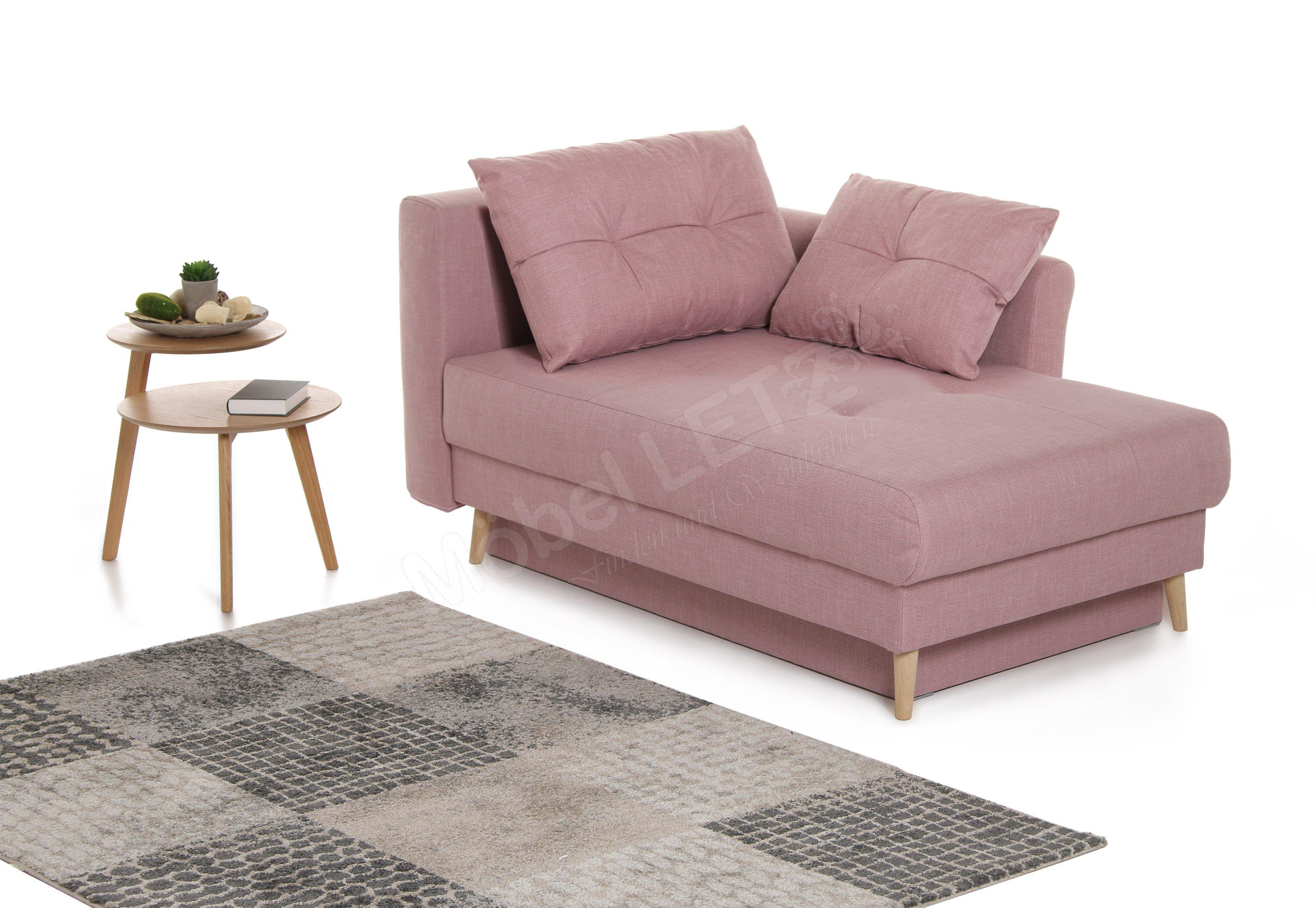 einzelliege della von restyl in altrosa mit bettkasten m bel letz ihr online shop. Black Bedroom Furniture Sets. Home Design Ideas
