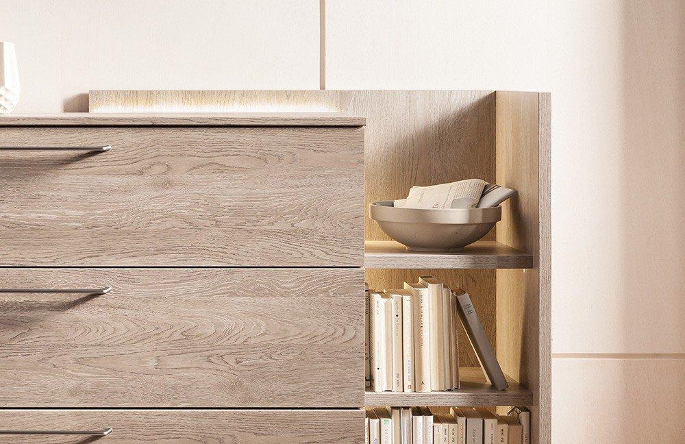 kommode concept me von nolte platin eiche m bel letz ihr online shop. Black Bedroom Furniture Sets. Home Design Ideas