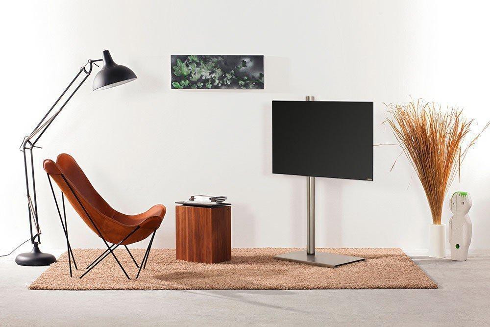 wissmann tv halter column art118 mit runder edelstahls ule m bel letz ihr online shop. Black Bedroom Furniture Sets. Home Design Ideas
