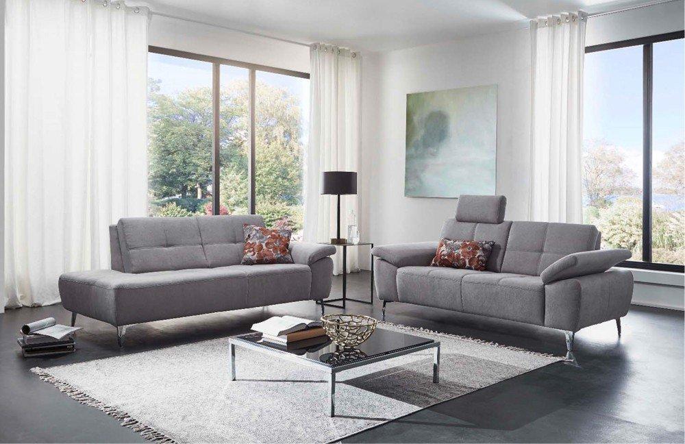 F+S Polstermöbel 292 Ravenna Sofagruppe in Grau | Möbel Letz - Ihr ...