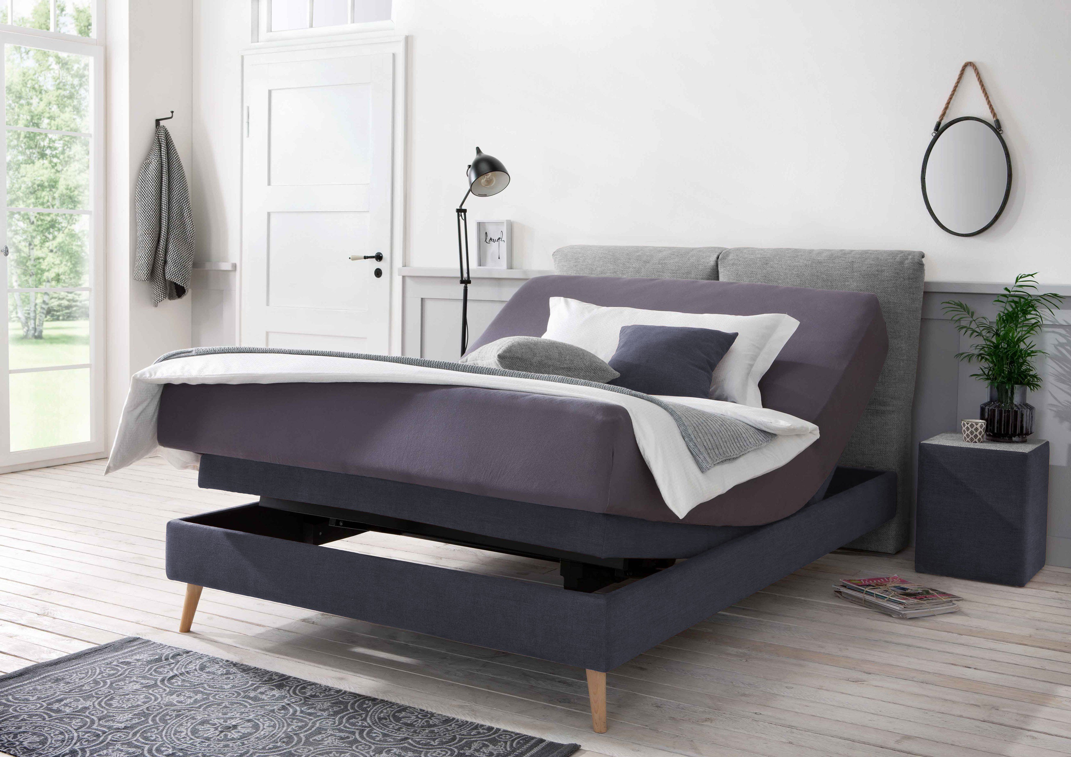 otten boxspringbett kapstadt in navy grau mit kopfteilkissen m bel letz ihr online shop. Black Bedroom Furniture Sets. Home Design Ideas