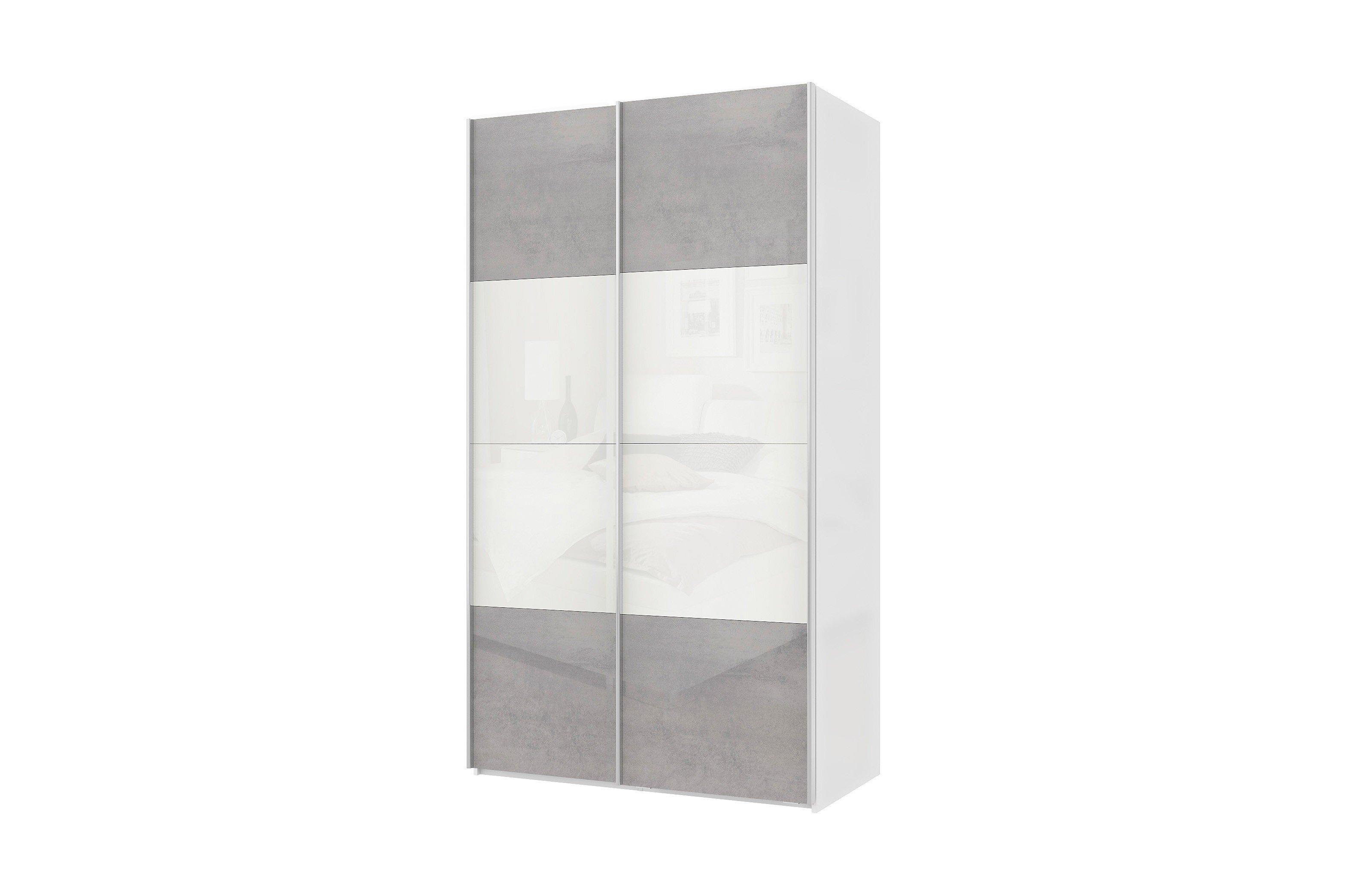 Wellemöbel Varianta 4 Schrank Beton-Optik - alpinweiß | Möbel Letz ...