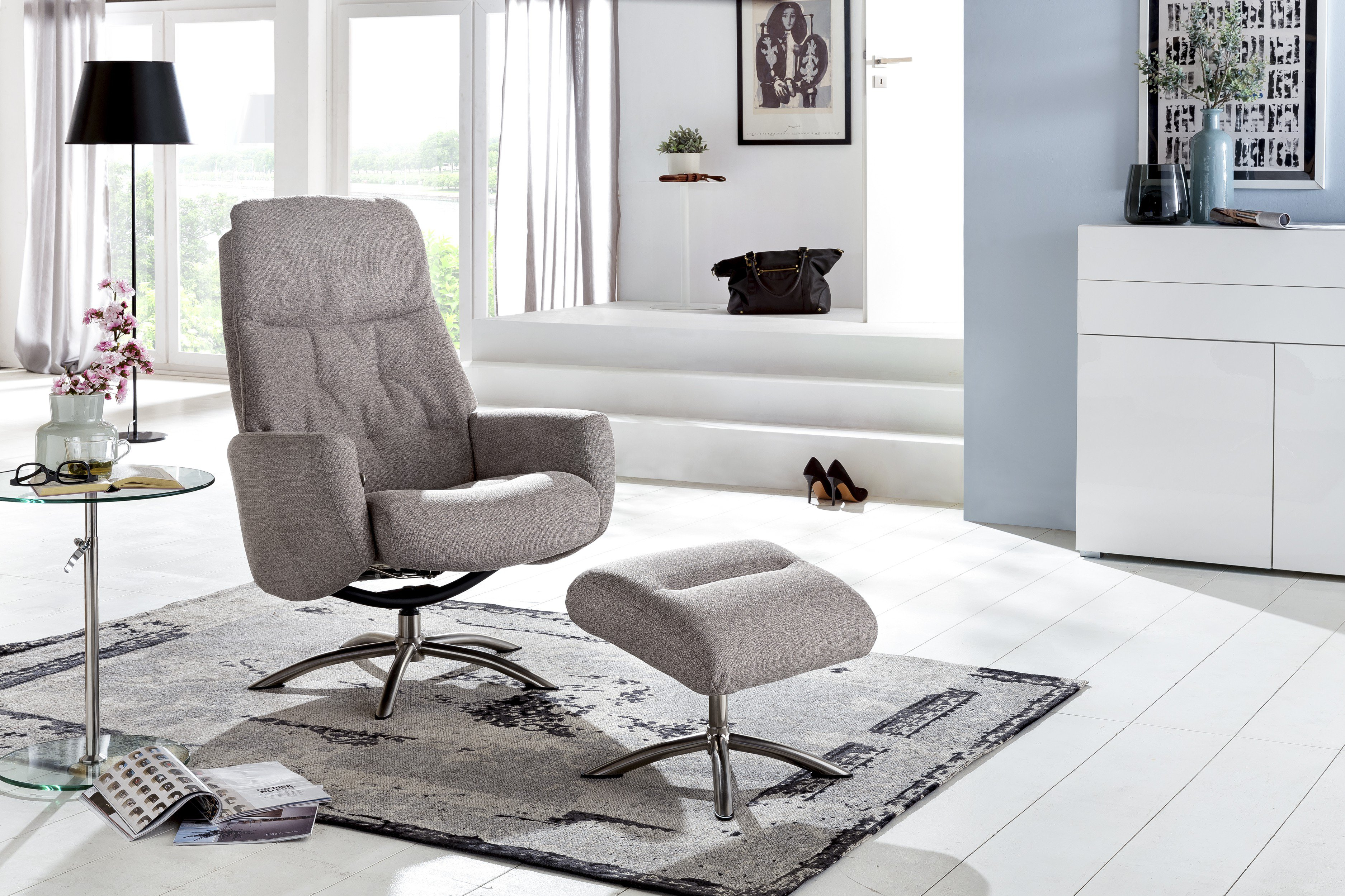 cotta olivia funktionssessel in hellem grau m bel letz ihr online shop. Black Bedroom Furniture Sets. Home Design Ideas