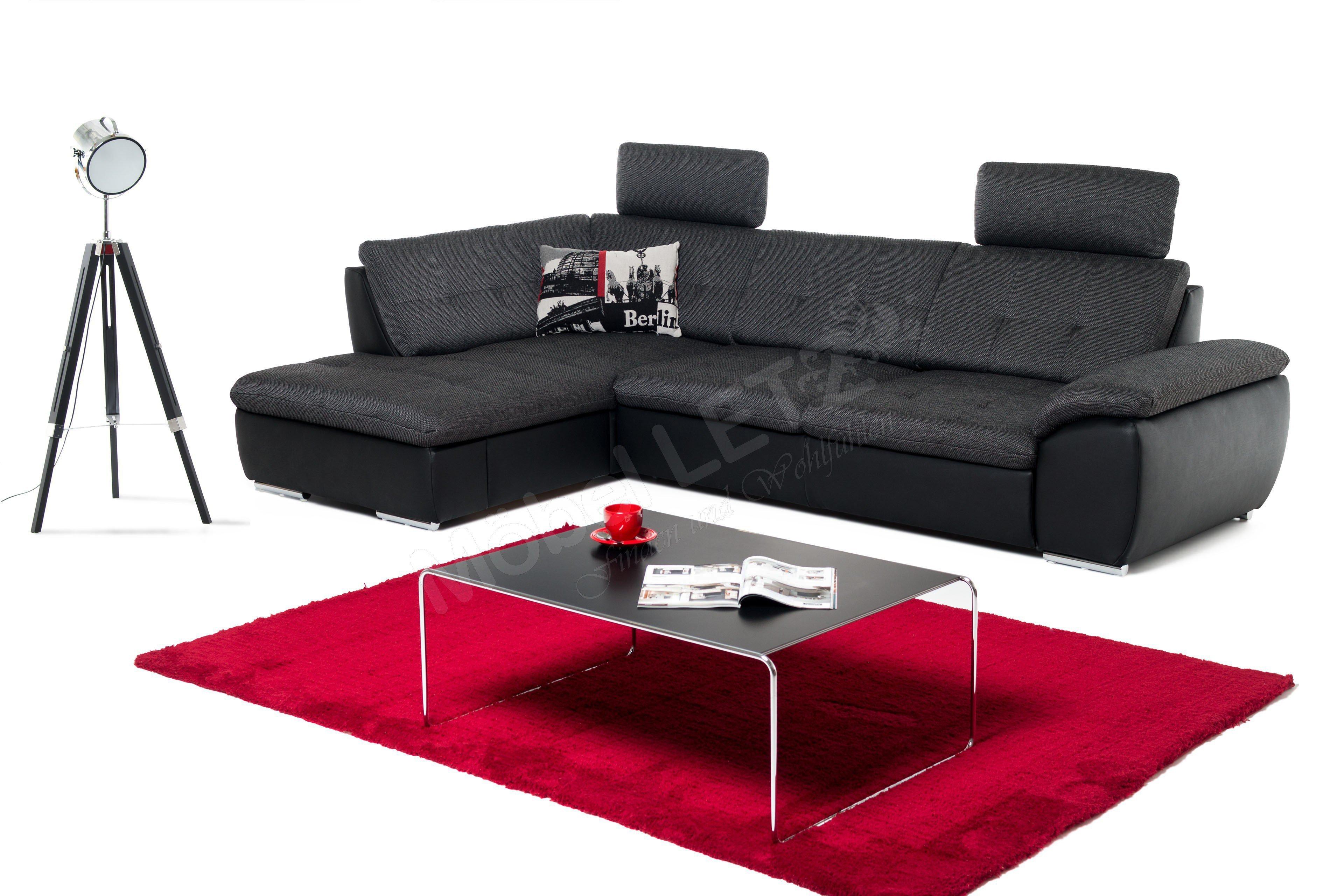 megapol polsterm bel ecksofa in anthrazit schwarz m bel letz ihr online shop. Black Bedroom Furniture Sets. Home Design Ideas