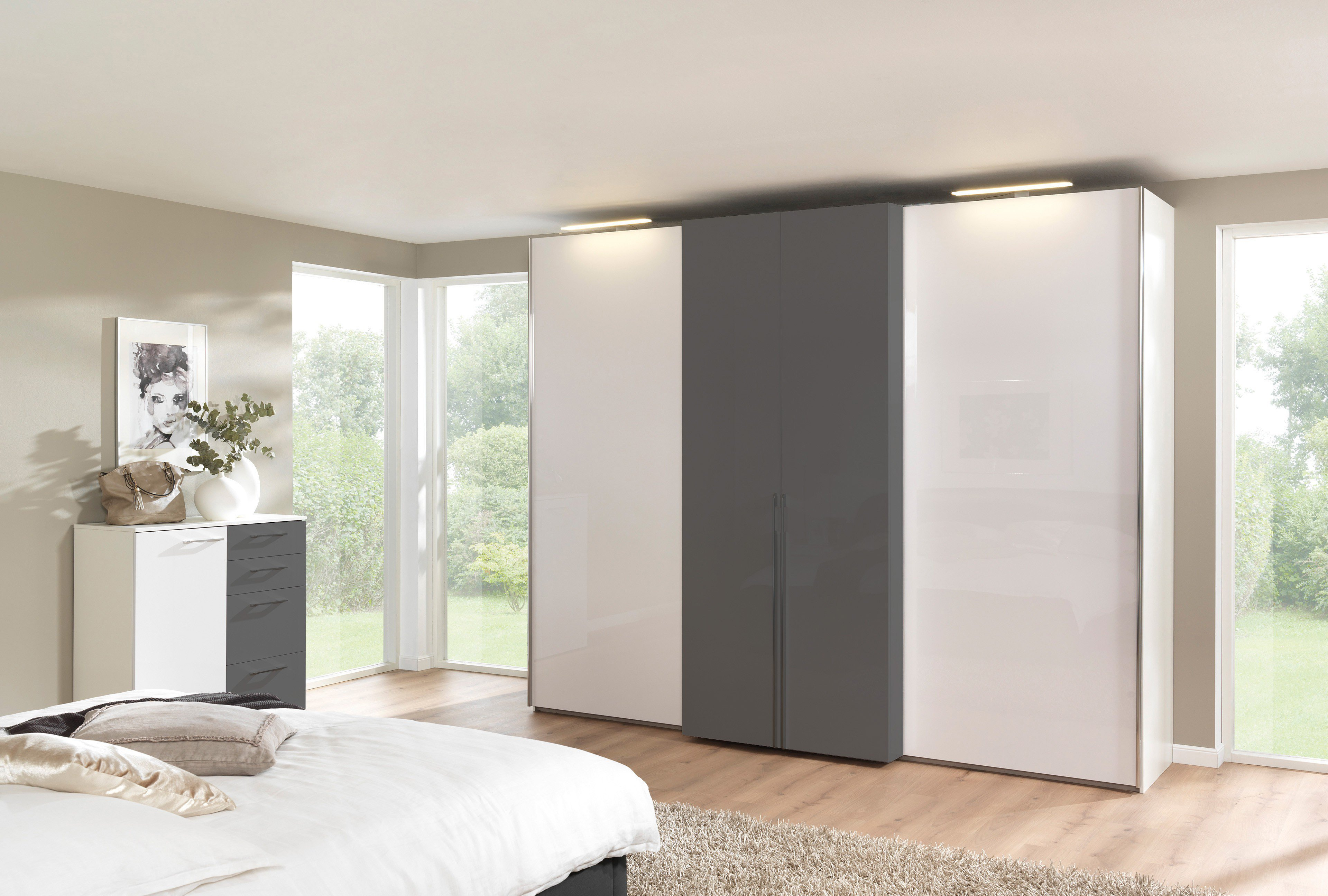 wellem bel koffert rschrank beladis wei grau m bel letz ihr online shop. Black Bedroom Furniture Sets. Home Design Ideas