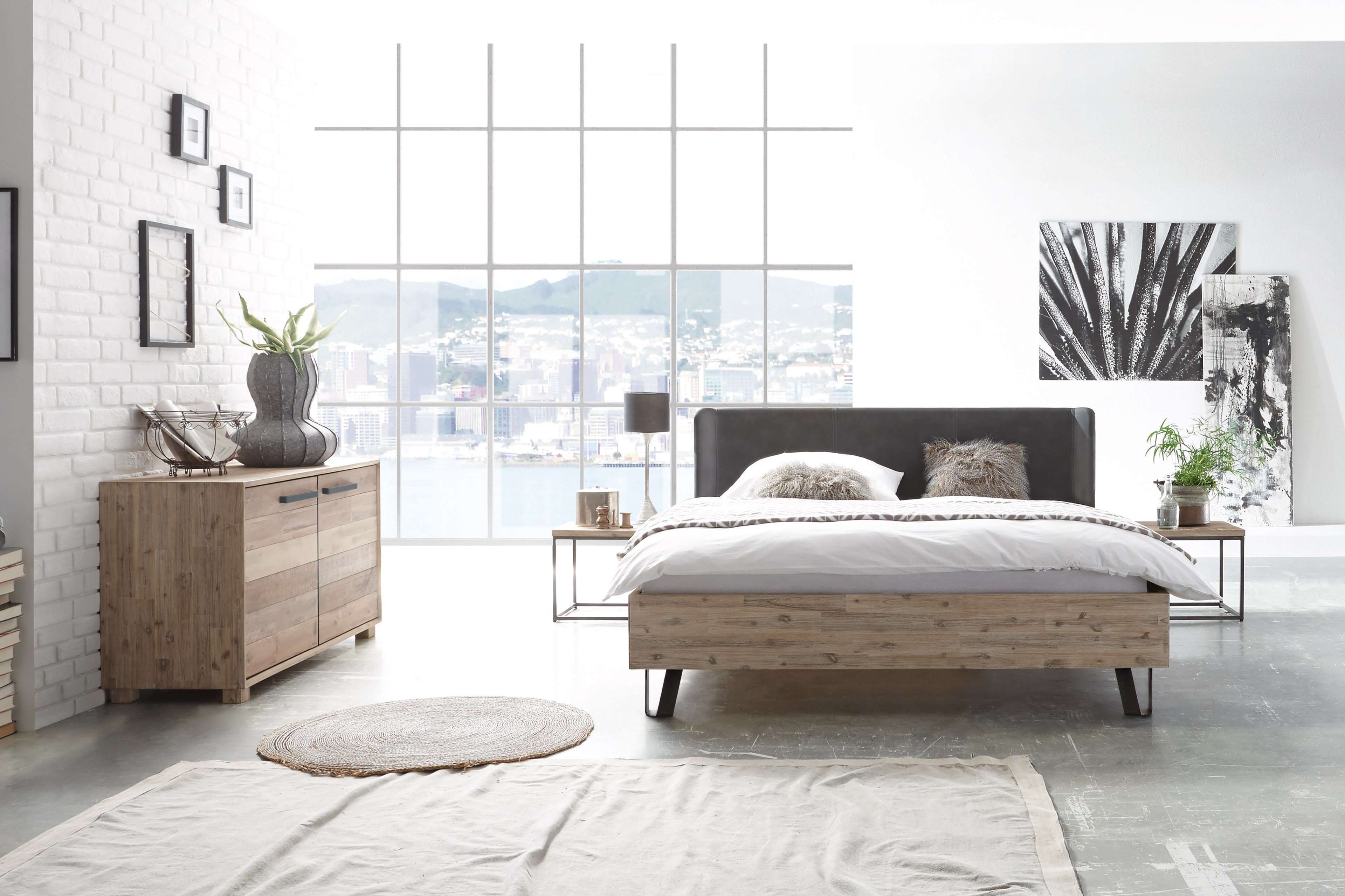 factory chic hasena bett industrial stil m bel letz. Black Bedroom Furniture Sets. Home Design Ideas